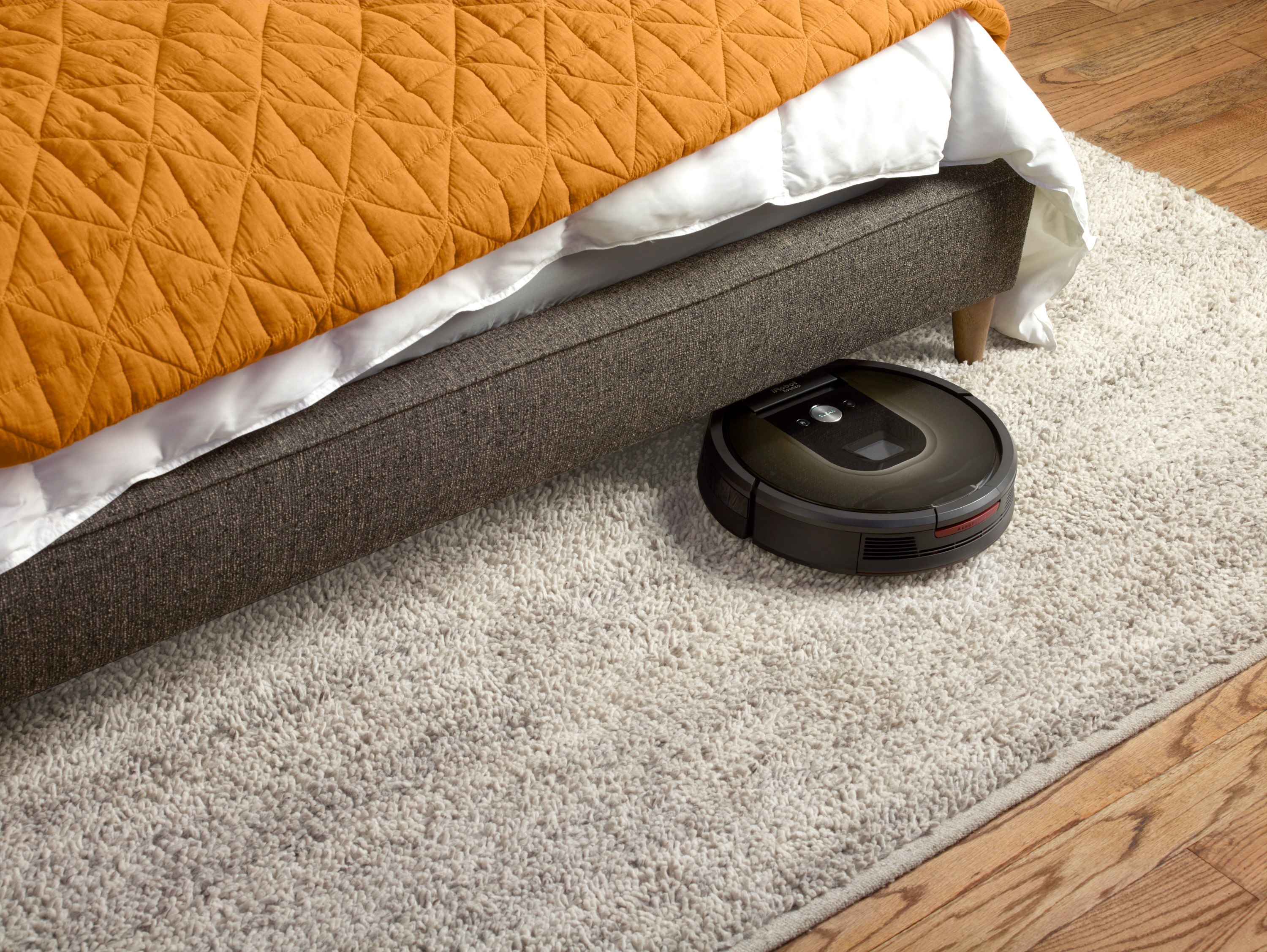 The Roomba 980 is the first  to come with an app that enables starting a vacuuming session remotely.