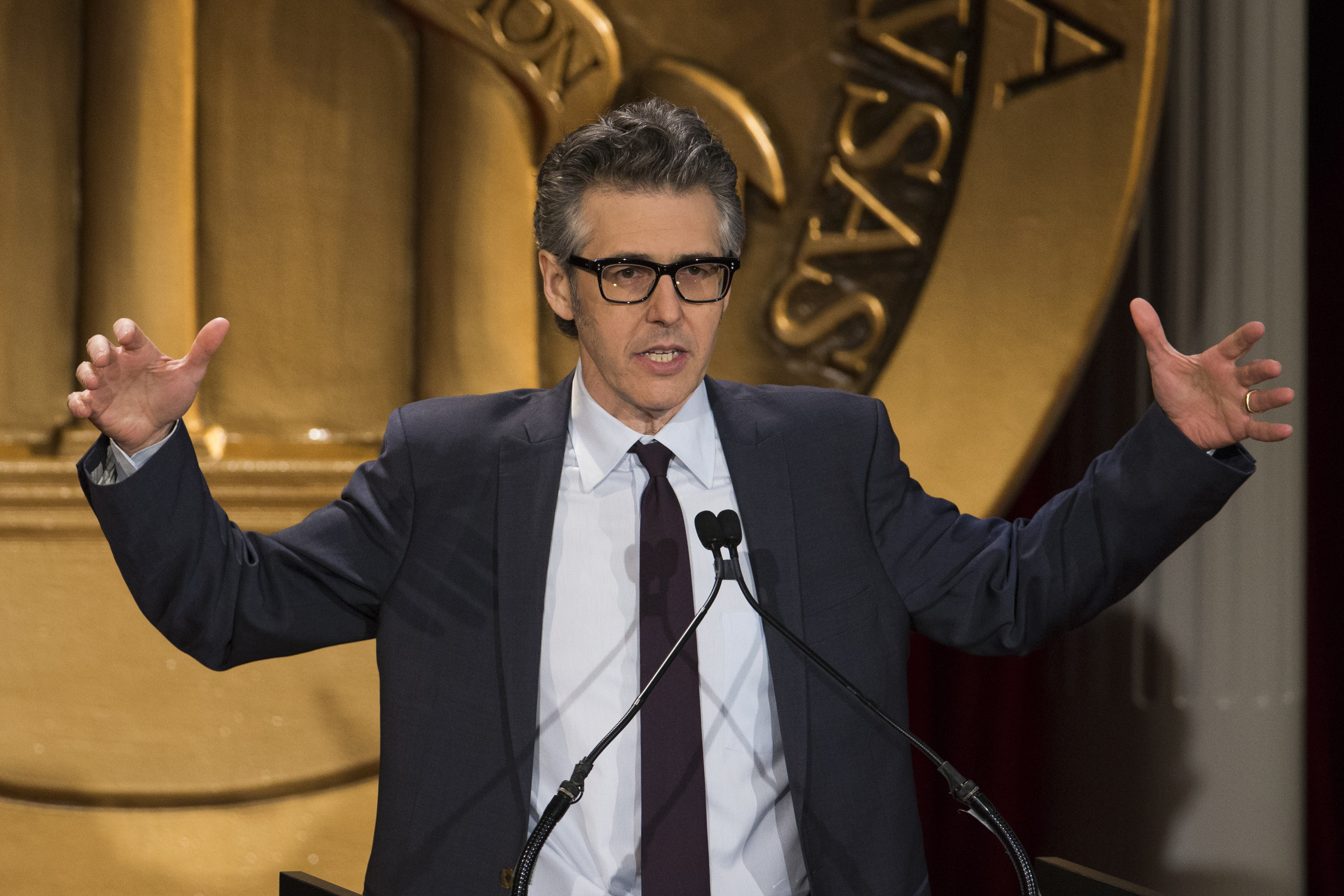 Host and journalist Ira Glass speaks while introducing the Peabody Awards in New York