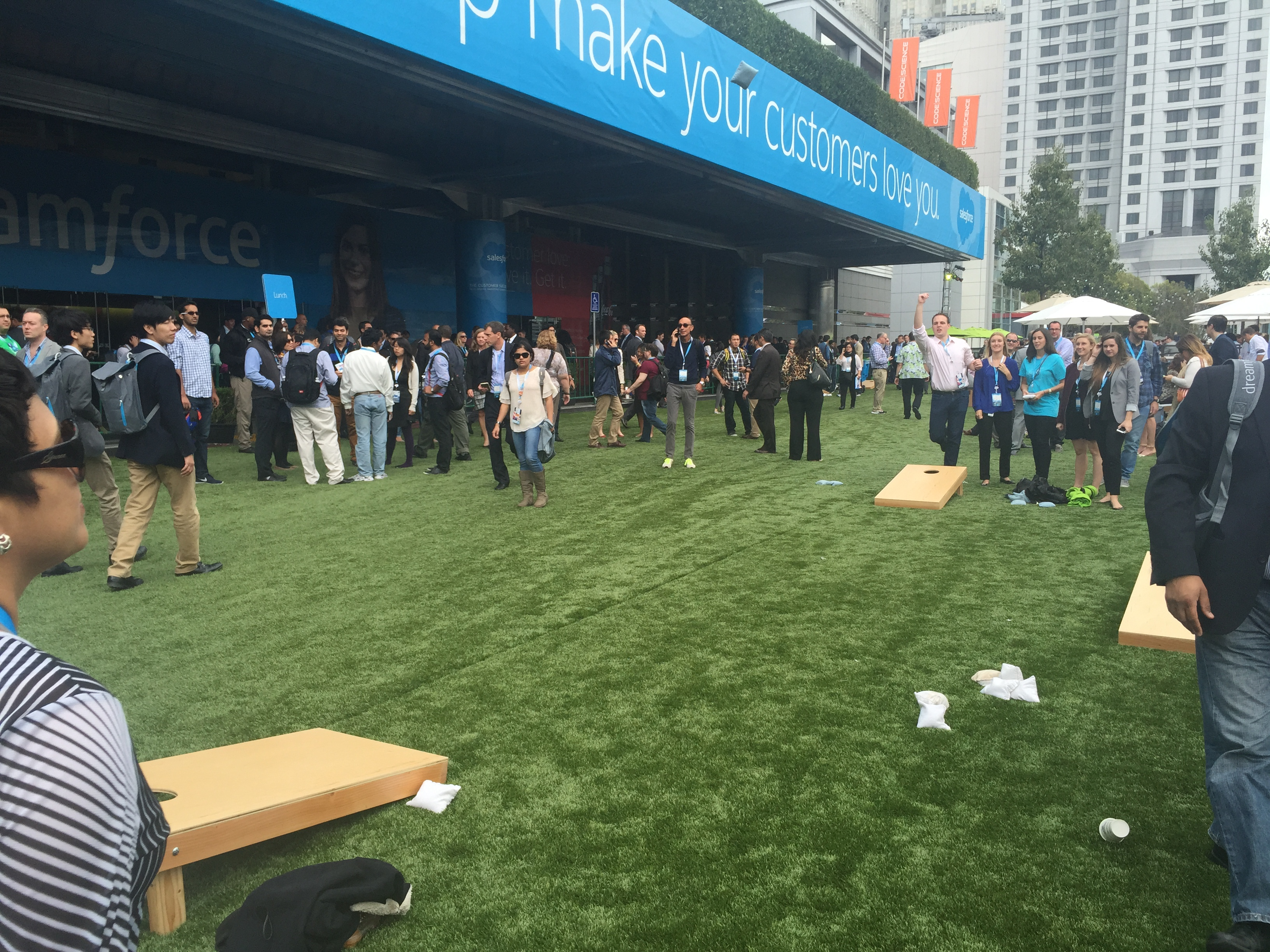 A vignette from Dreamforce, Salesforce's annual customer conference.