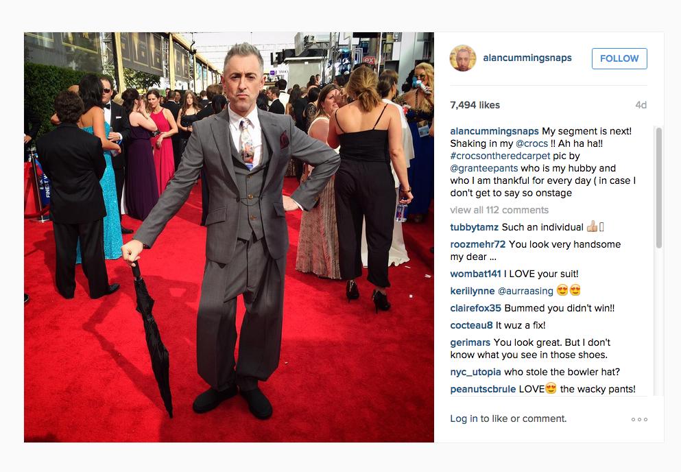 alan cumming red carpet instagram