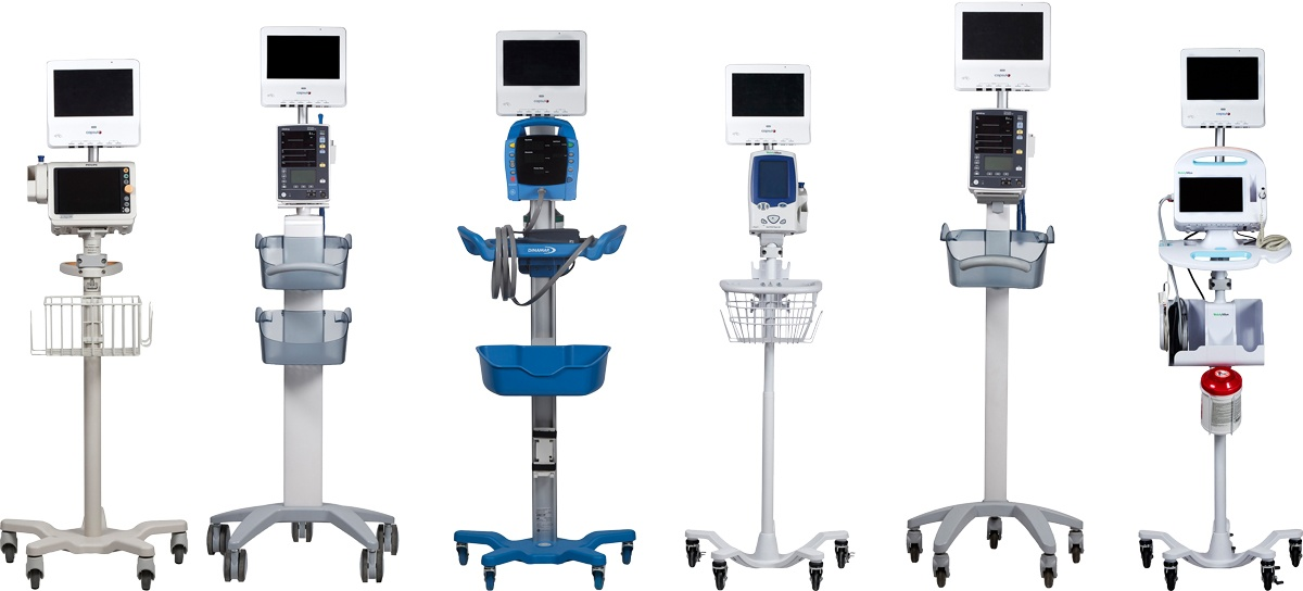 The Capsule SmartLinx vitals monitor running on existing medical equipment.