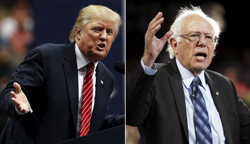 Donald Trump (left) and Bernie Sanders