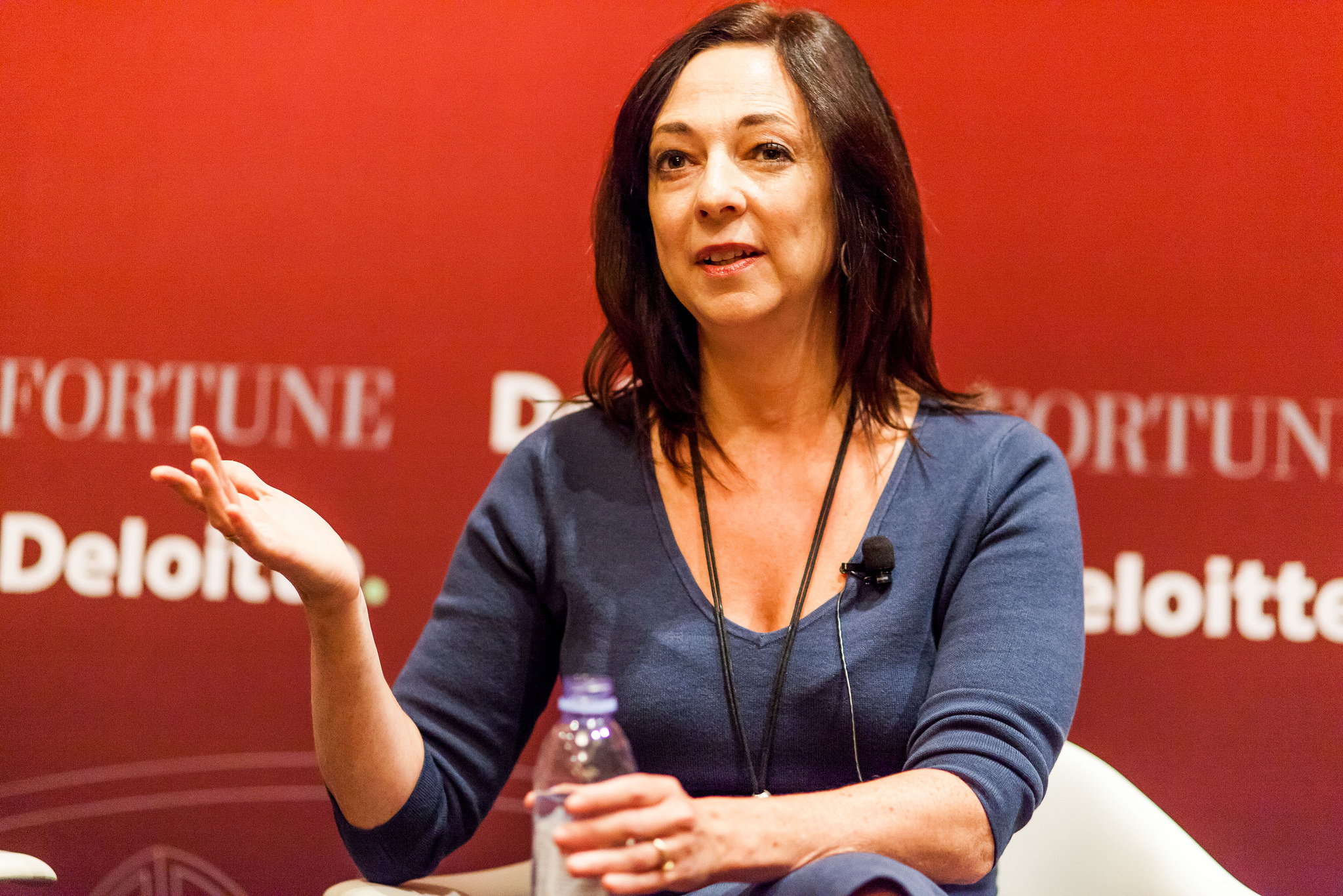 Susan Cain, author of Quiet: The Power of Introverts in a World That Can't Stop Talking speaking at Fortune's Most Powerful Women 2015 summit in Washington, D.C.