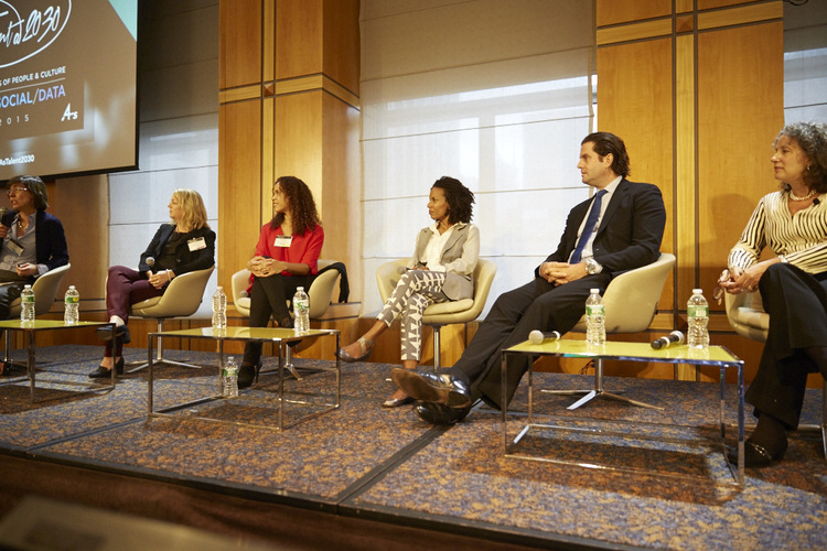 Fortune's Pattie Sellers with panelists at the 4As Talent@2030 conference.