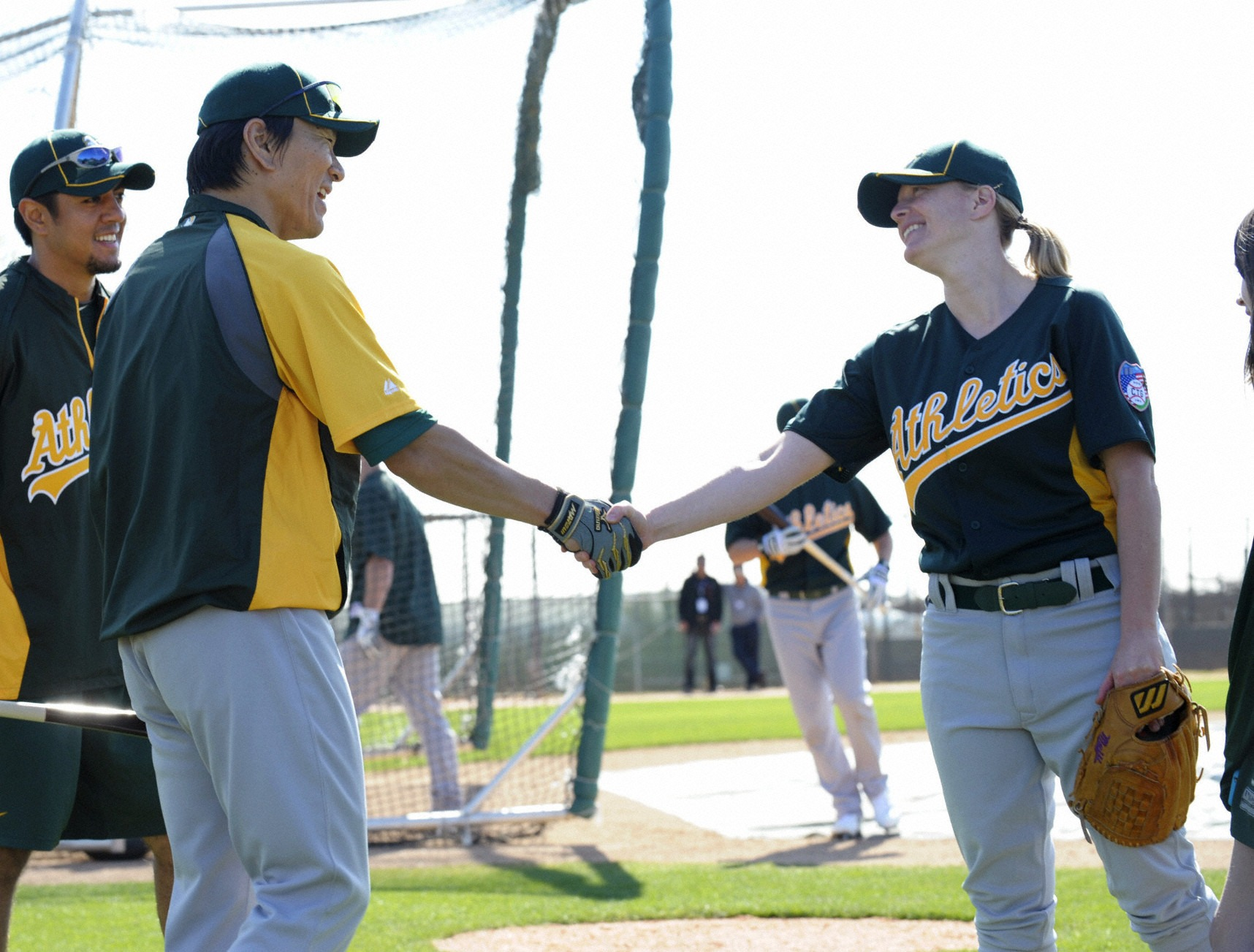 Matsui and Justine Siegal at spring training