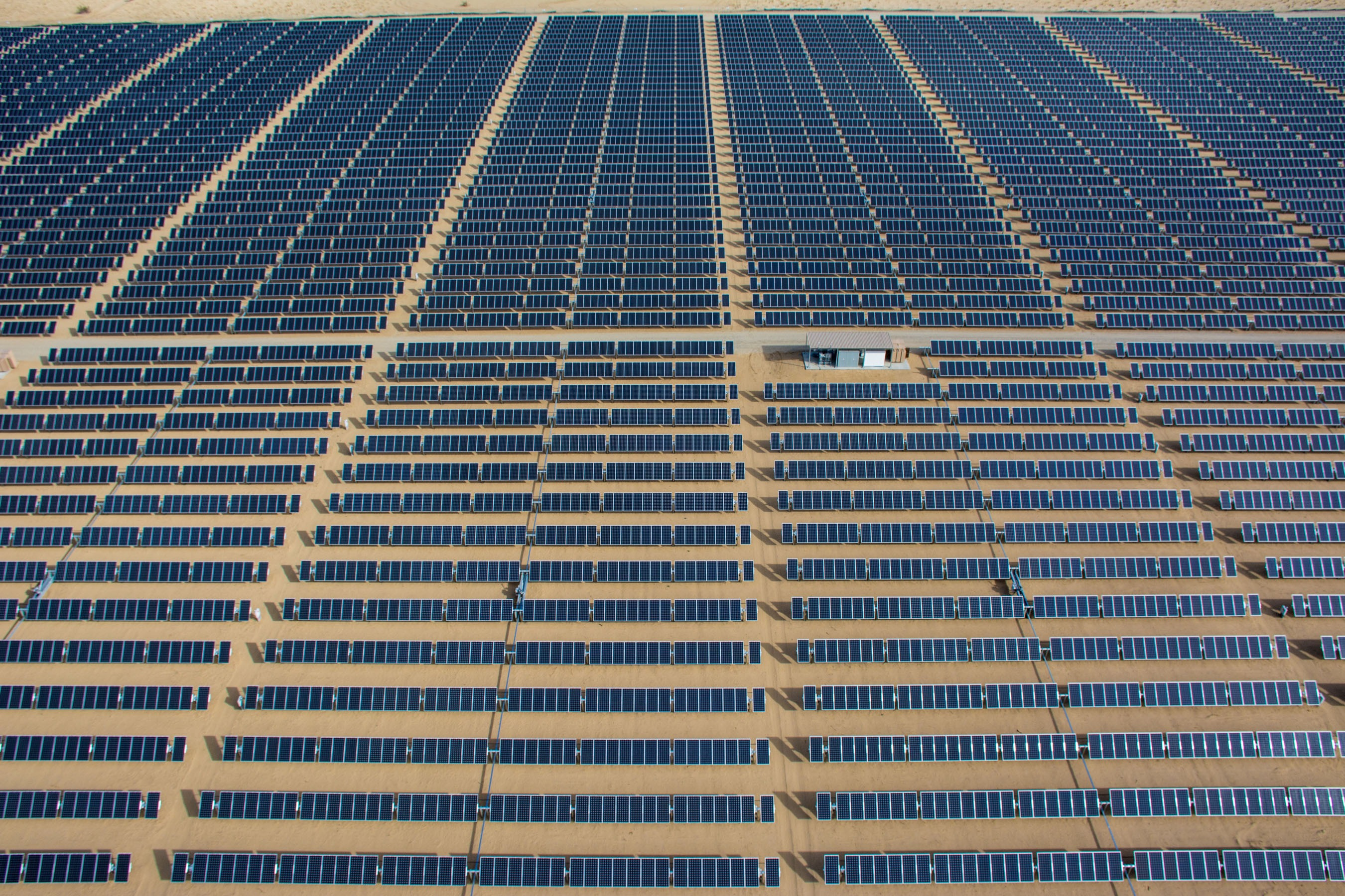 A solar plant constructed by SunEdison in California