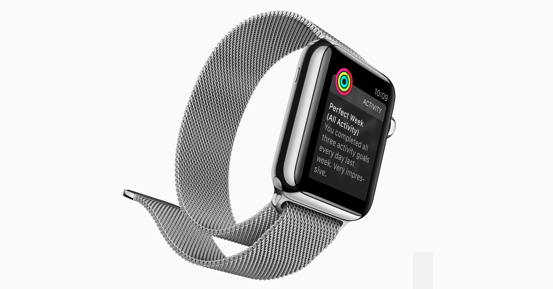 Apple Watch fitness milanese loop band