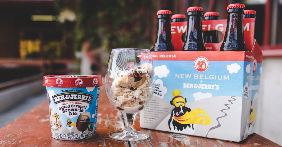 New Belgium Brewing and Ben & Jerry's will work together on both a new beer and beer-themed ice cream.