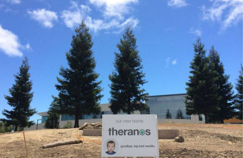 Theranos headquarters being built in June 2014.