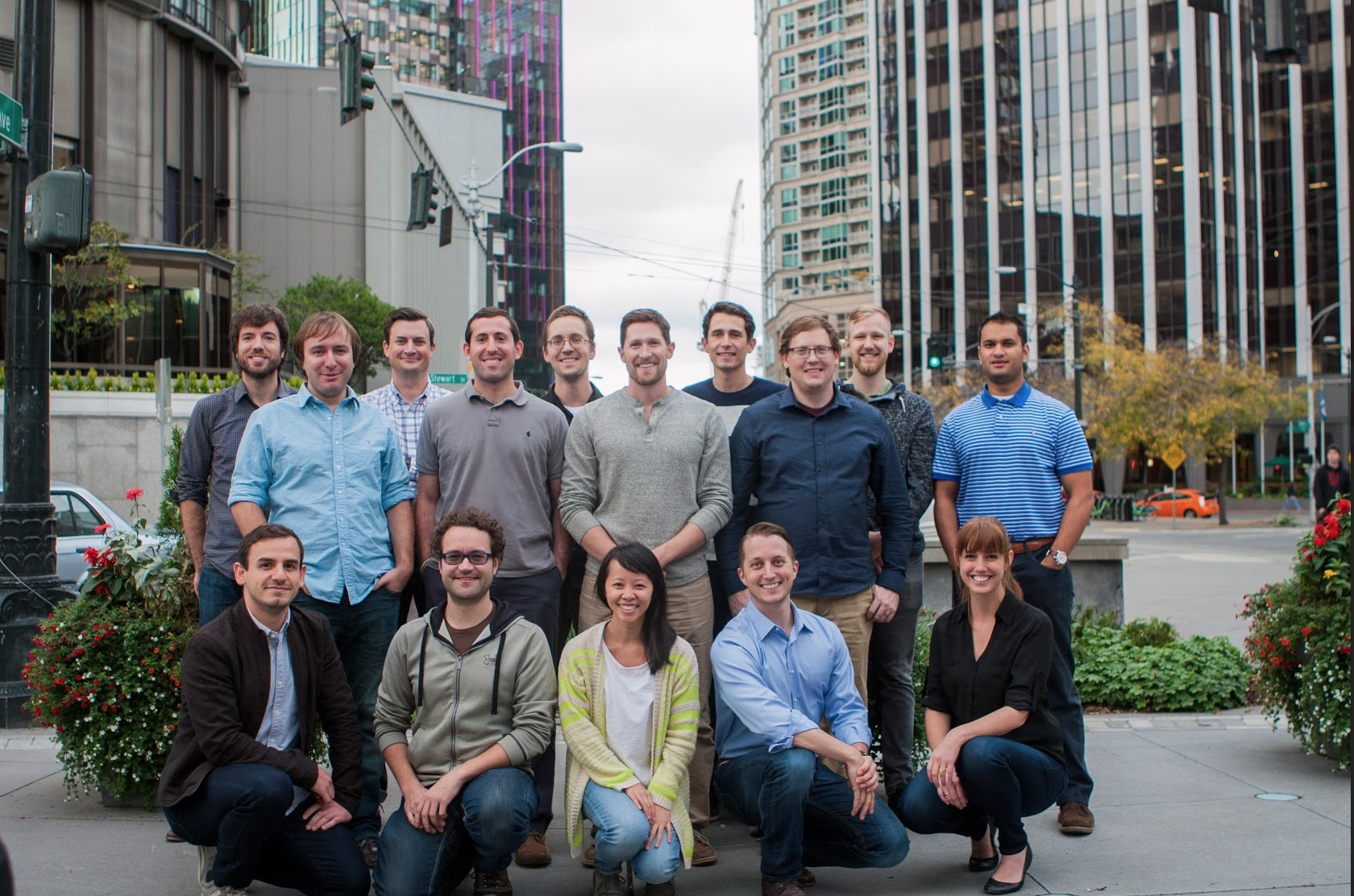 Employees of Convoy, a freight-shipping platform startup.