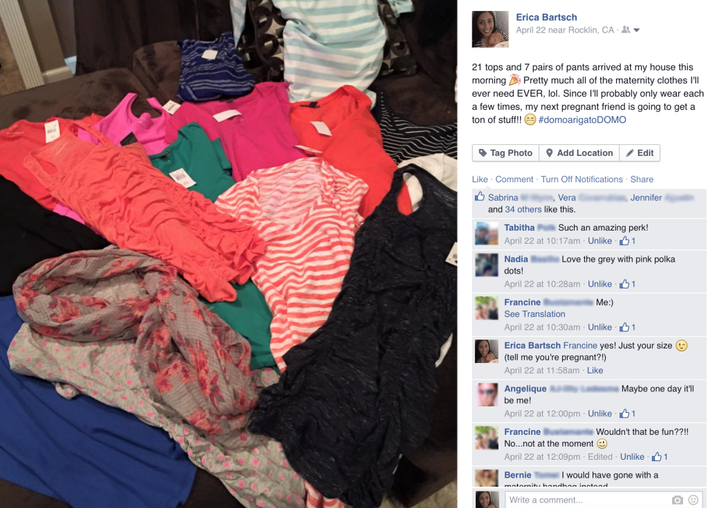 Domo_Erica Maternity Clothes Image