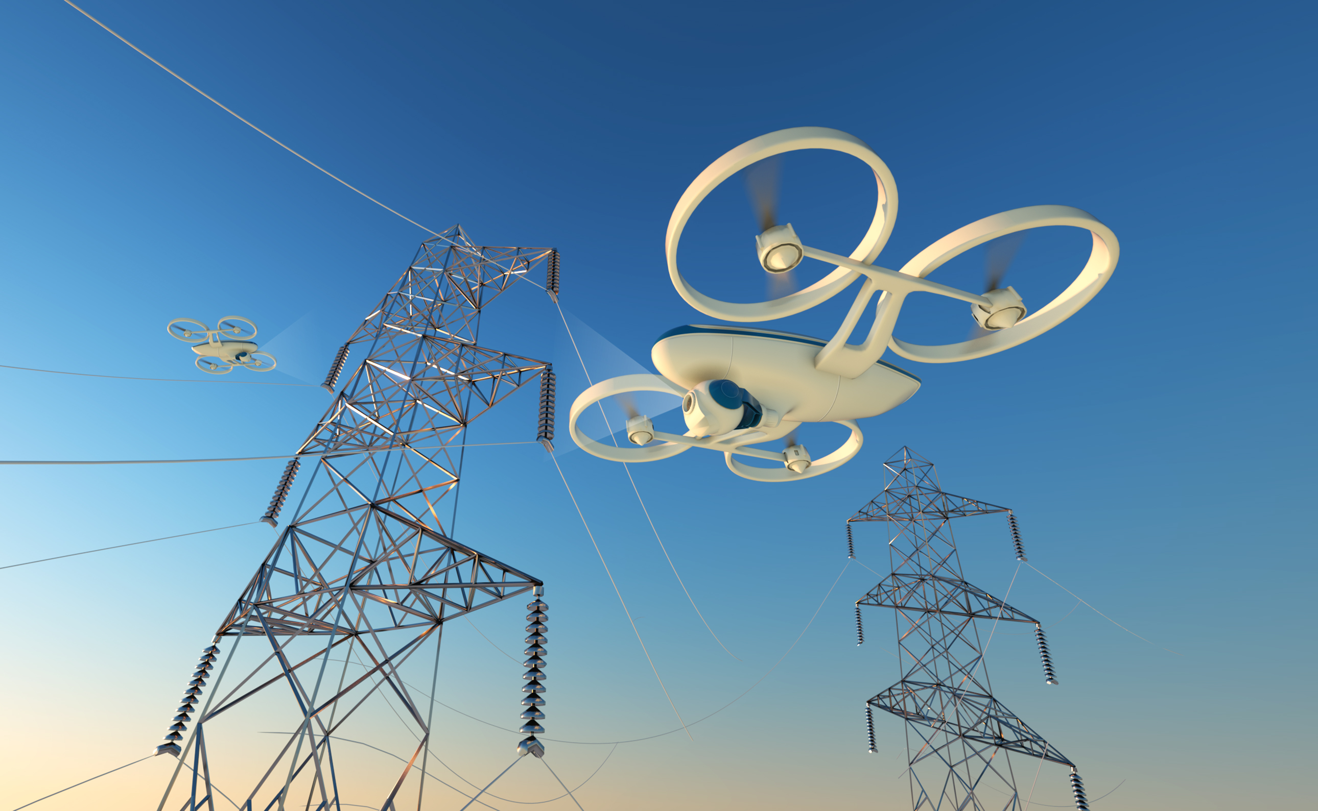 GE is using drones to inspect the power grid