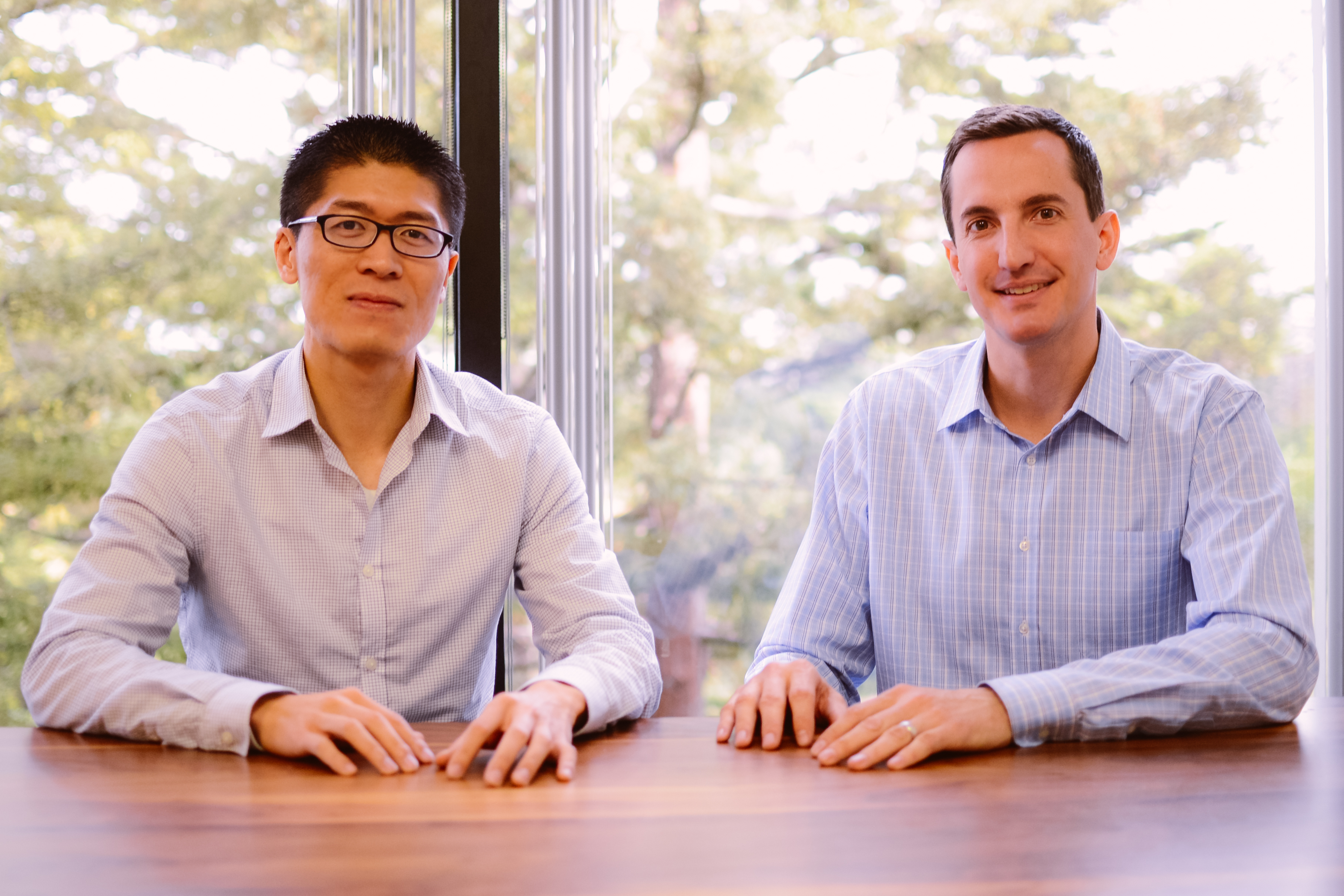 EverString co-founders Vincent Yang (L.), who is CEO, and J.J. Kardwell, who serves as president.
