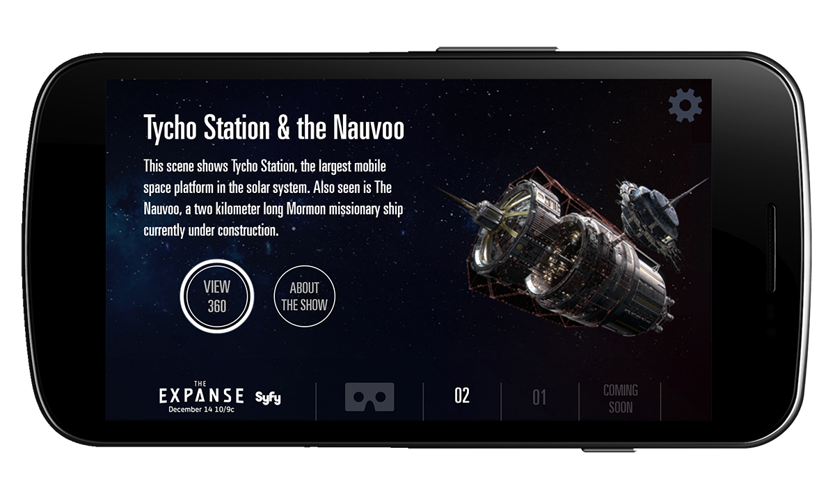 Syfy launched The Expanse VR app to promote the series.