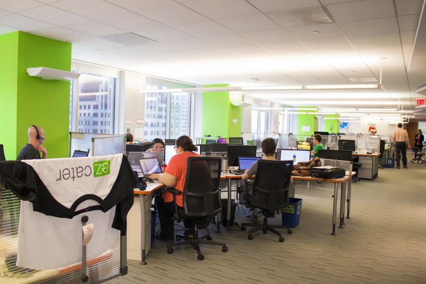 EzCater's Boston office.