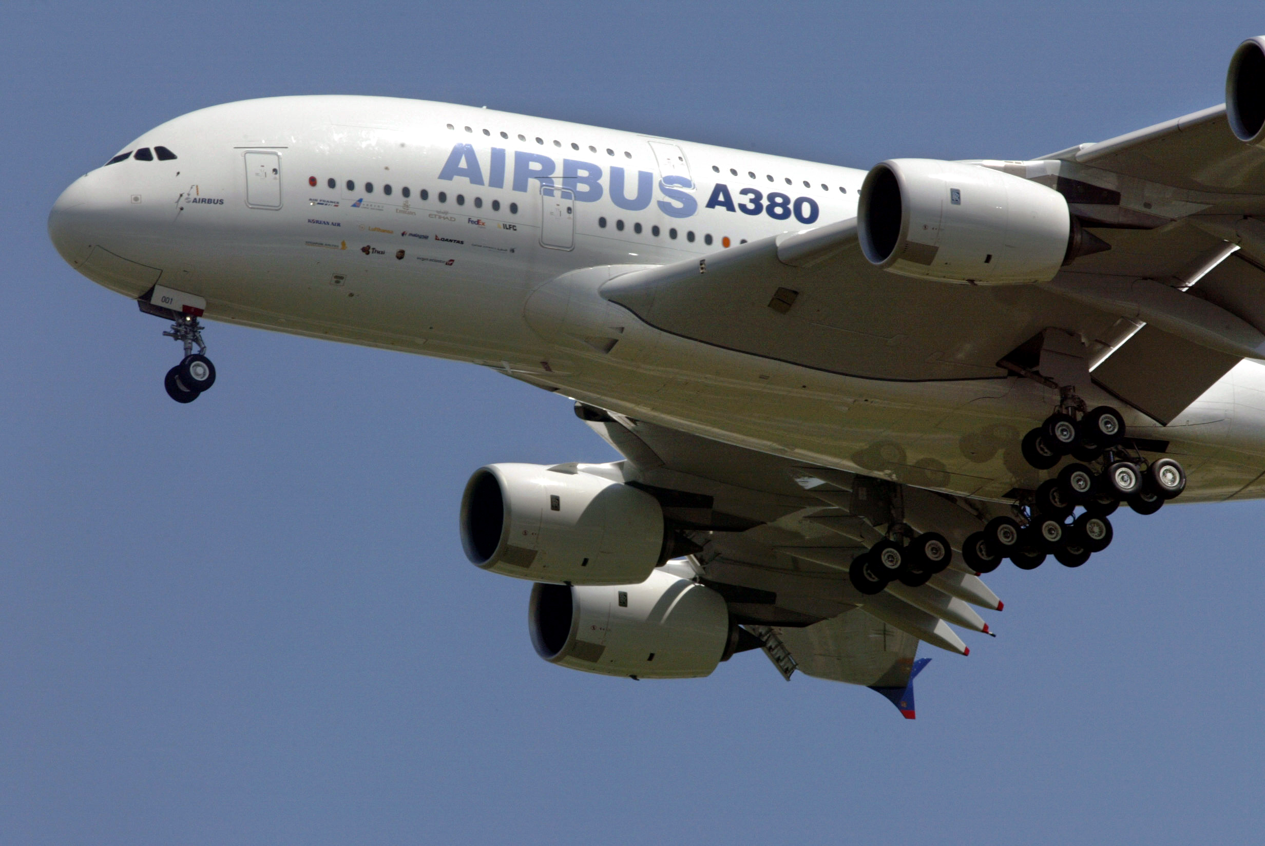 The giant double-decker Airbus A380, the