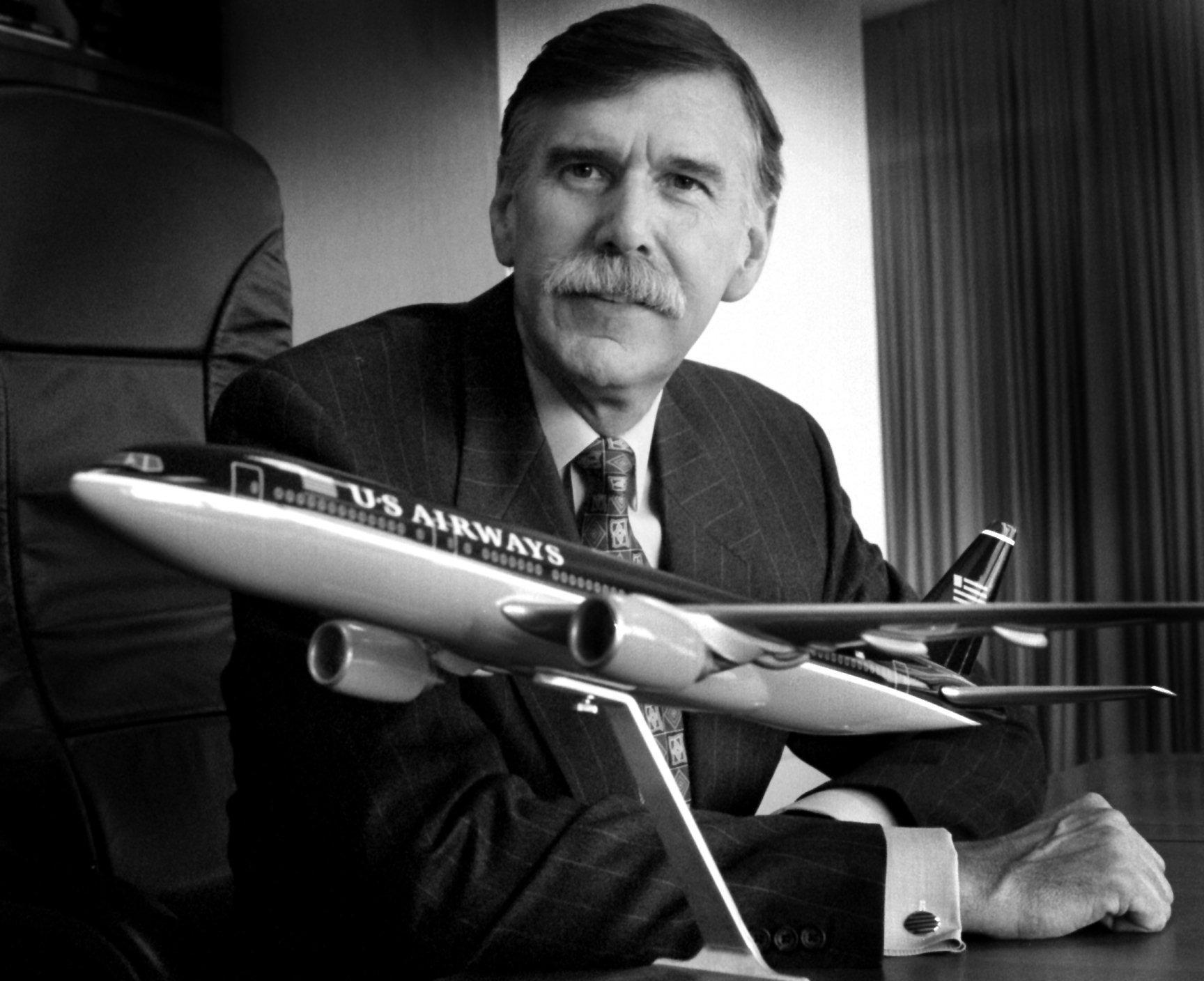 03/31/98 - USAirways Coprporate Offices - Crystal City - US Airways Group President Stephen Wolf. -