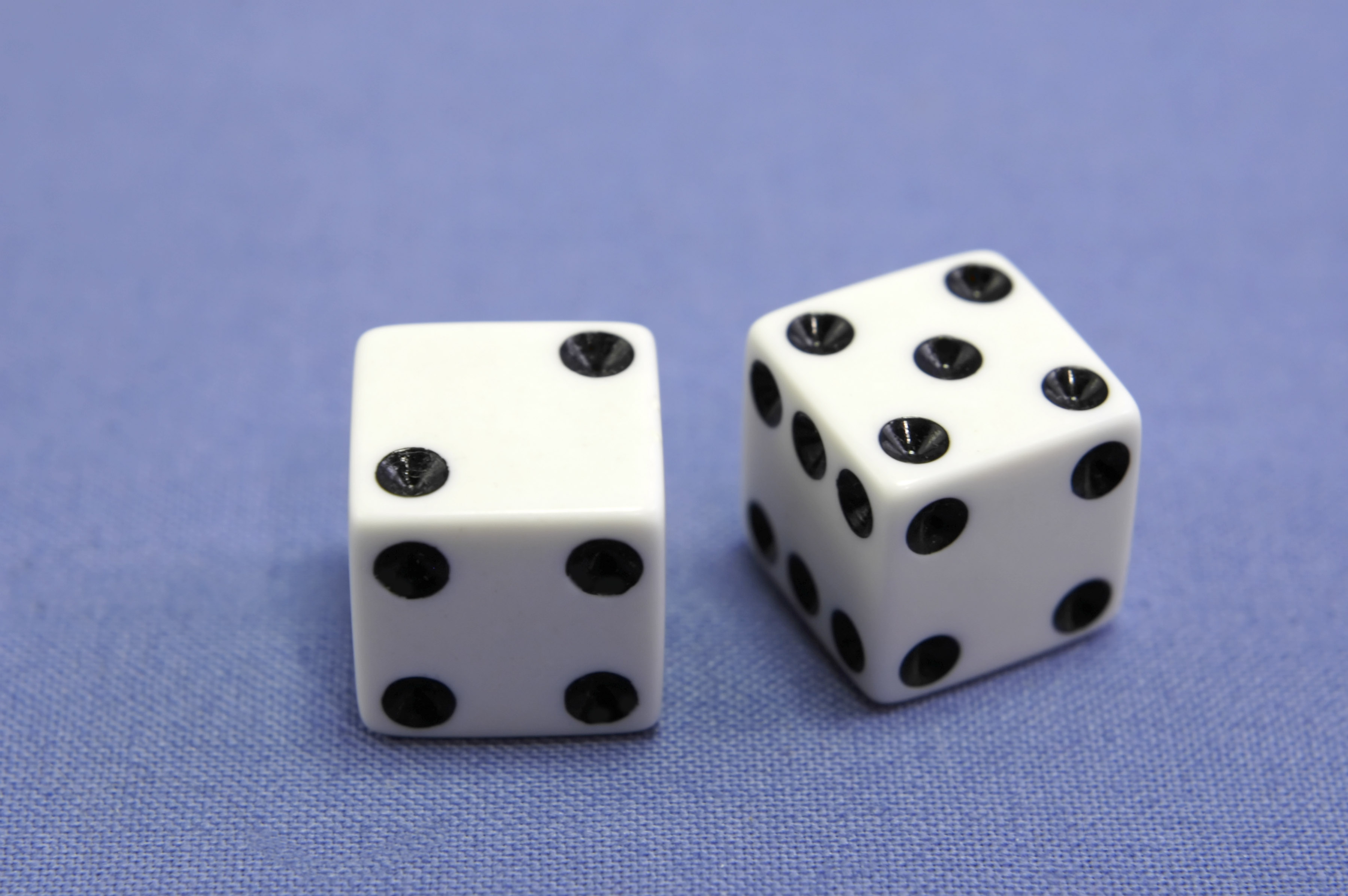 Dice Showing Seven
