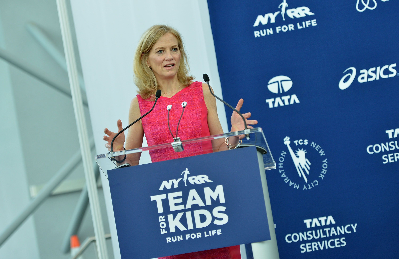 Caroline Wozniacki Picks Up Her New York City Marathon Official Race Bib