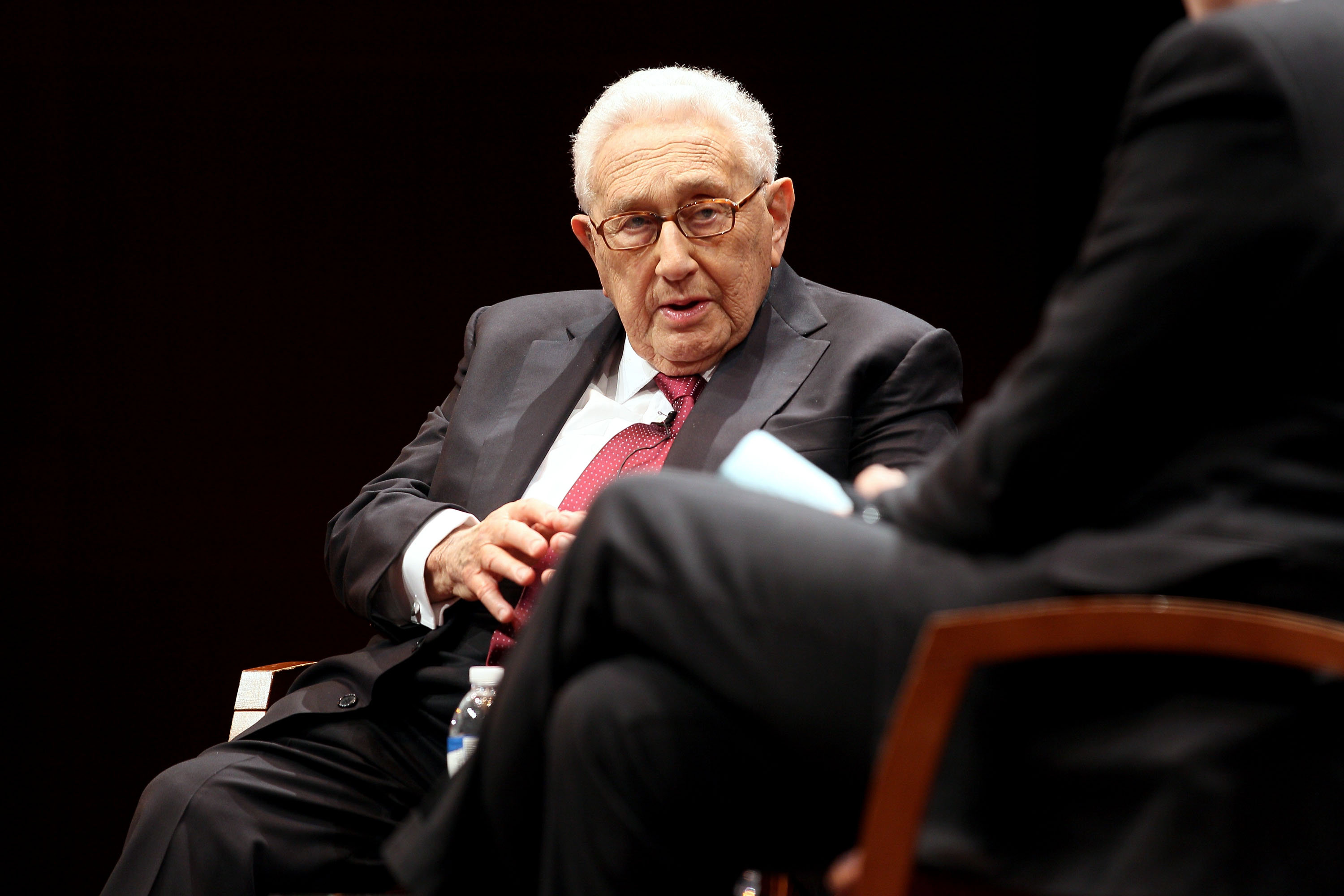 Henry Kissinger And Charlie Rose Mark The 70th Anniversary Of VE Day