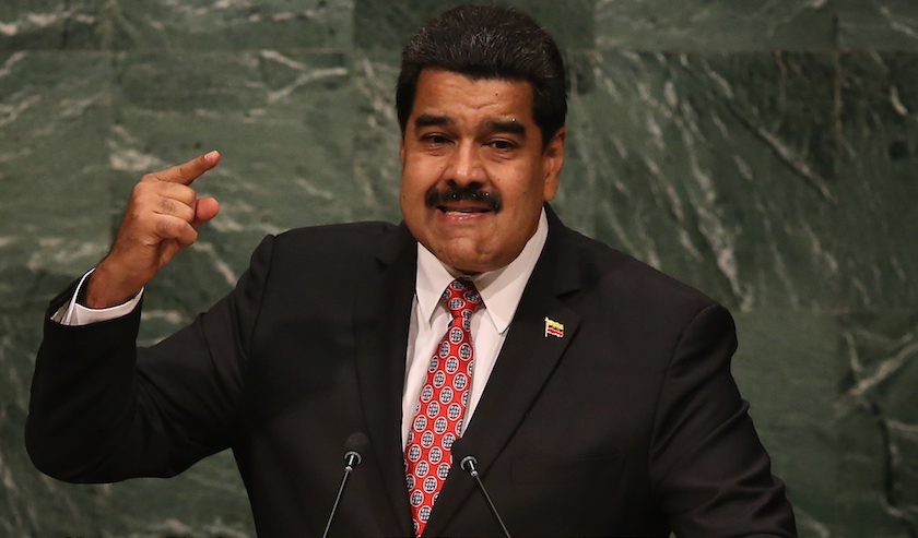 Nicolas Maduro, President of Venezuela, addresses the United Nations General Assembly at UN headquarters in New York