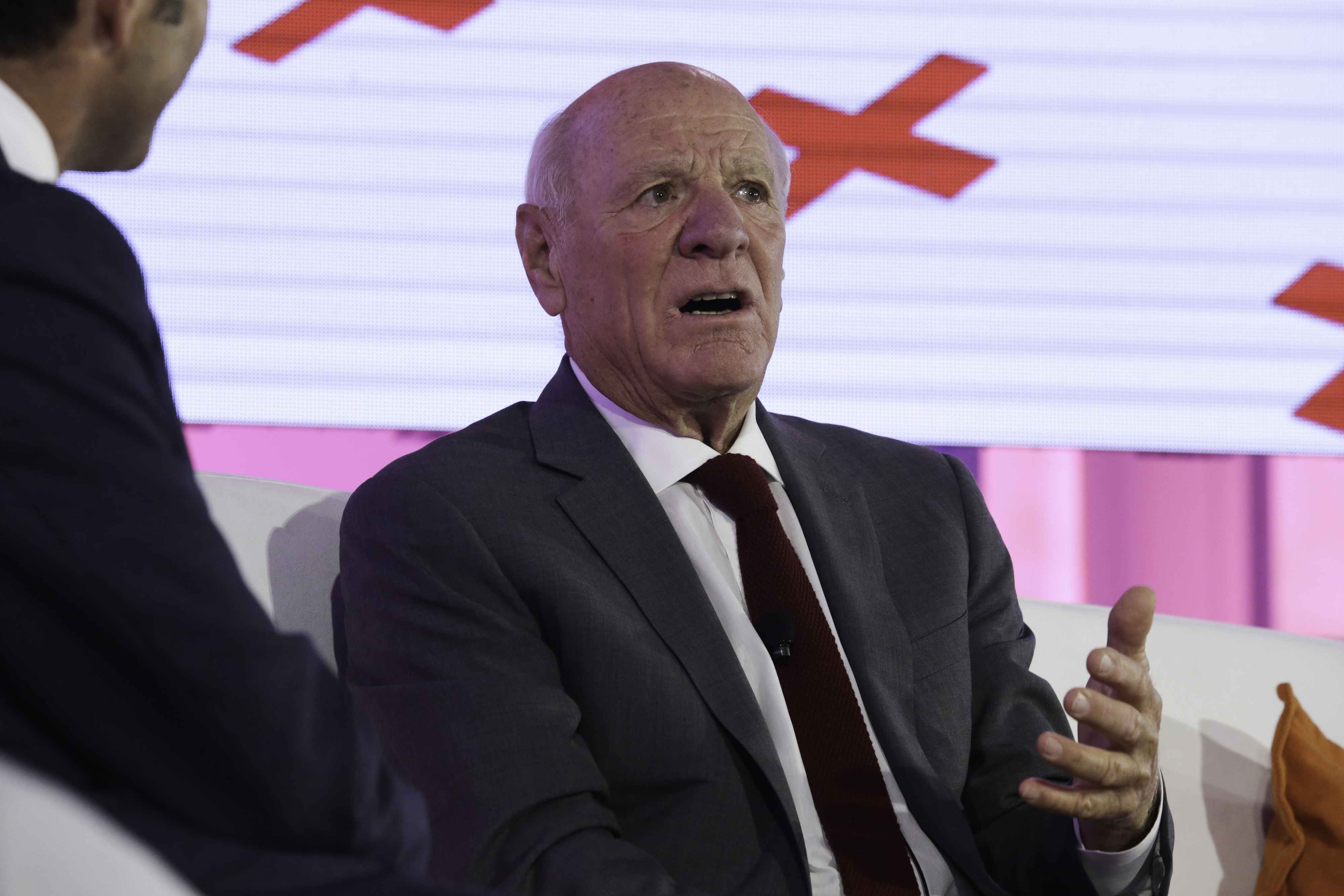 Barry Diller, chairman and senior executive of IAC/InterActiveCorp,  speaks at the Bloomberg Markets Most Influential Summit 2015 in New York, U.S., on Tuesday, Oct. 6, 2015. The summit brings together the bankers, policymakers, money managers and big thinkers who matter most for a day of discussion about the macroeconomic trends and global forces shaping investment strategy. Photographer: Chris Goodney/Bloomberg *** Local Caption ***Barry Diller