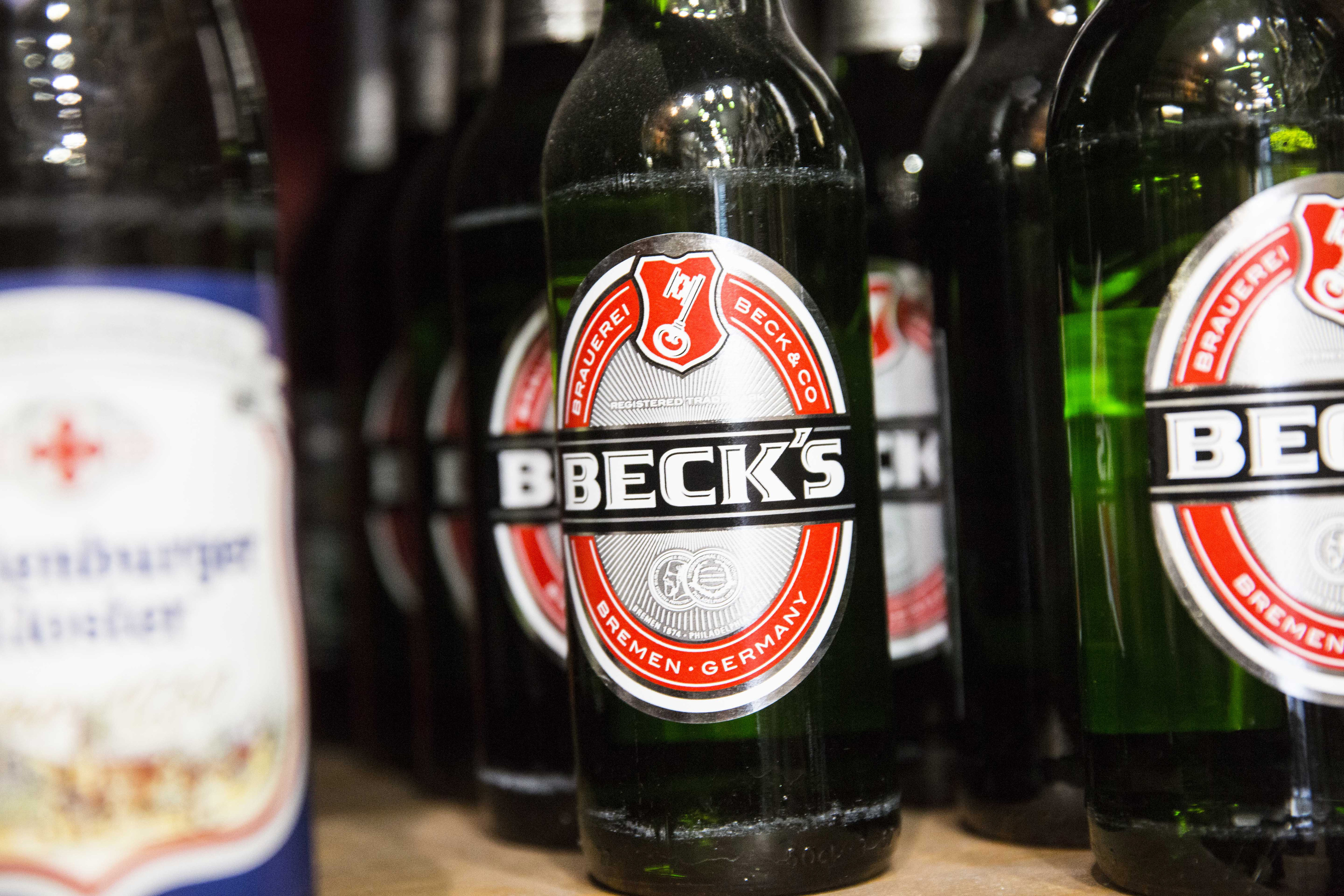 AB InBev And SABMiller Beers On Display Following $106 Billion Deal