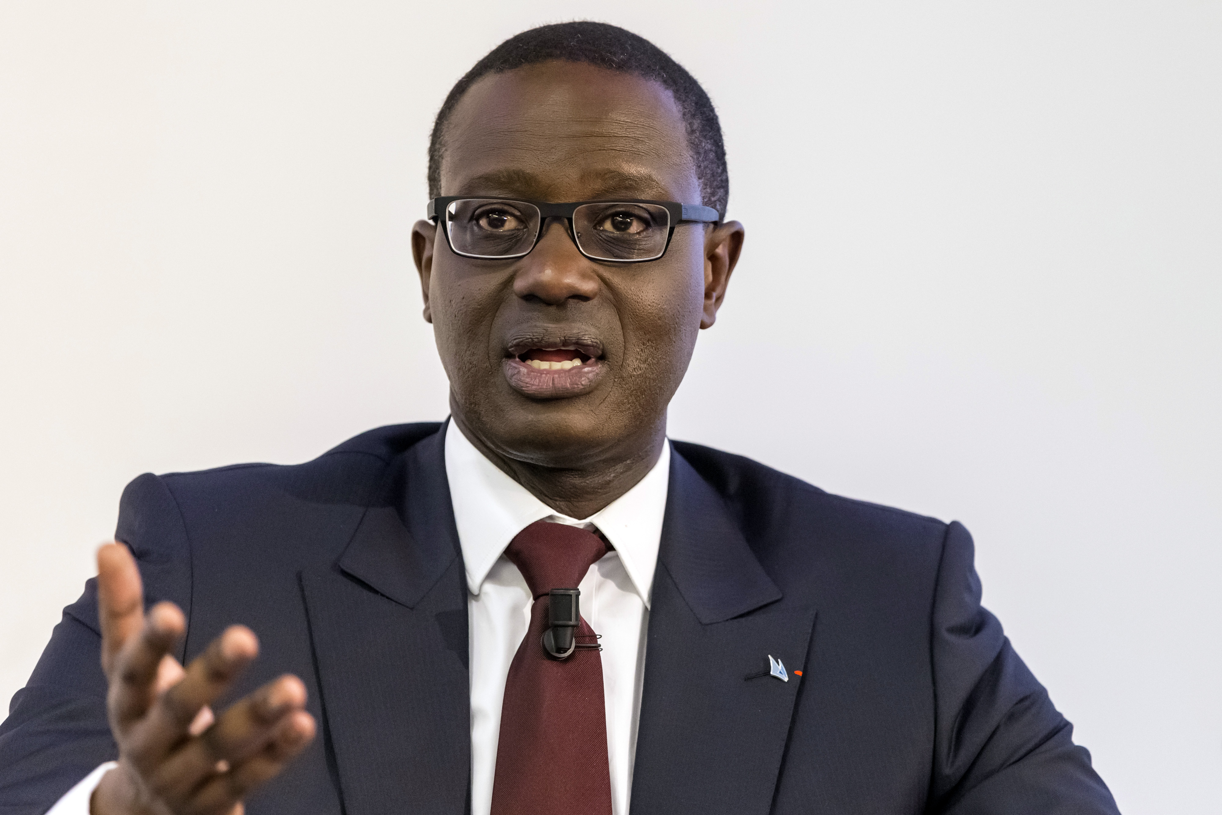 ZURICH: Credit Suisse Group AG Chief Executive Officer Tidjane Thiam Earnings News Conference & Interview