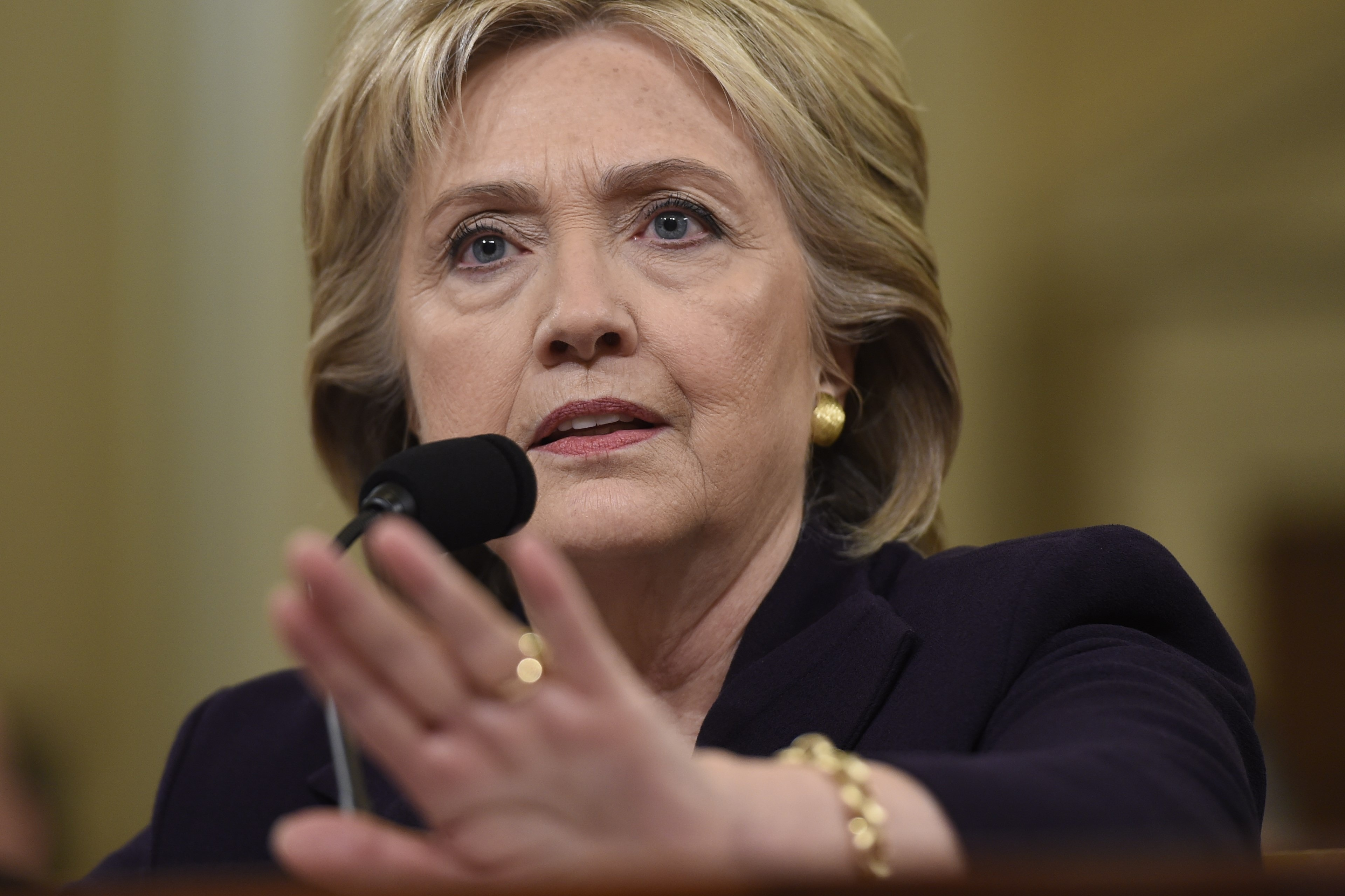 Hillary Clinton testifies before the House Select Committee on Benghazi on Capitol Hill .