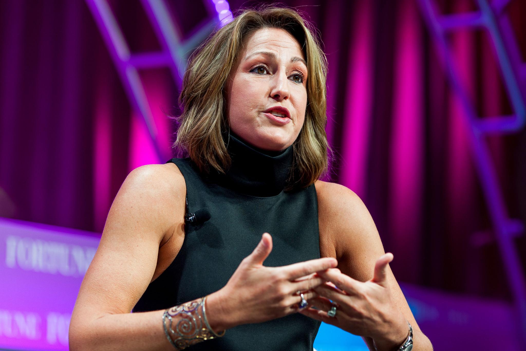 Mylan's Heather Bresch at the 2015 MPW Summit.