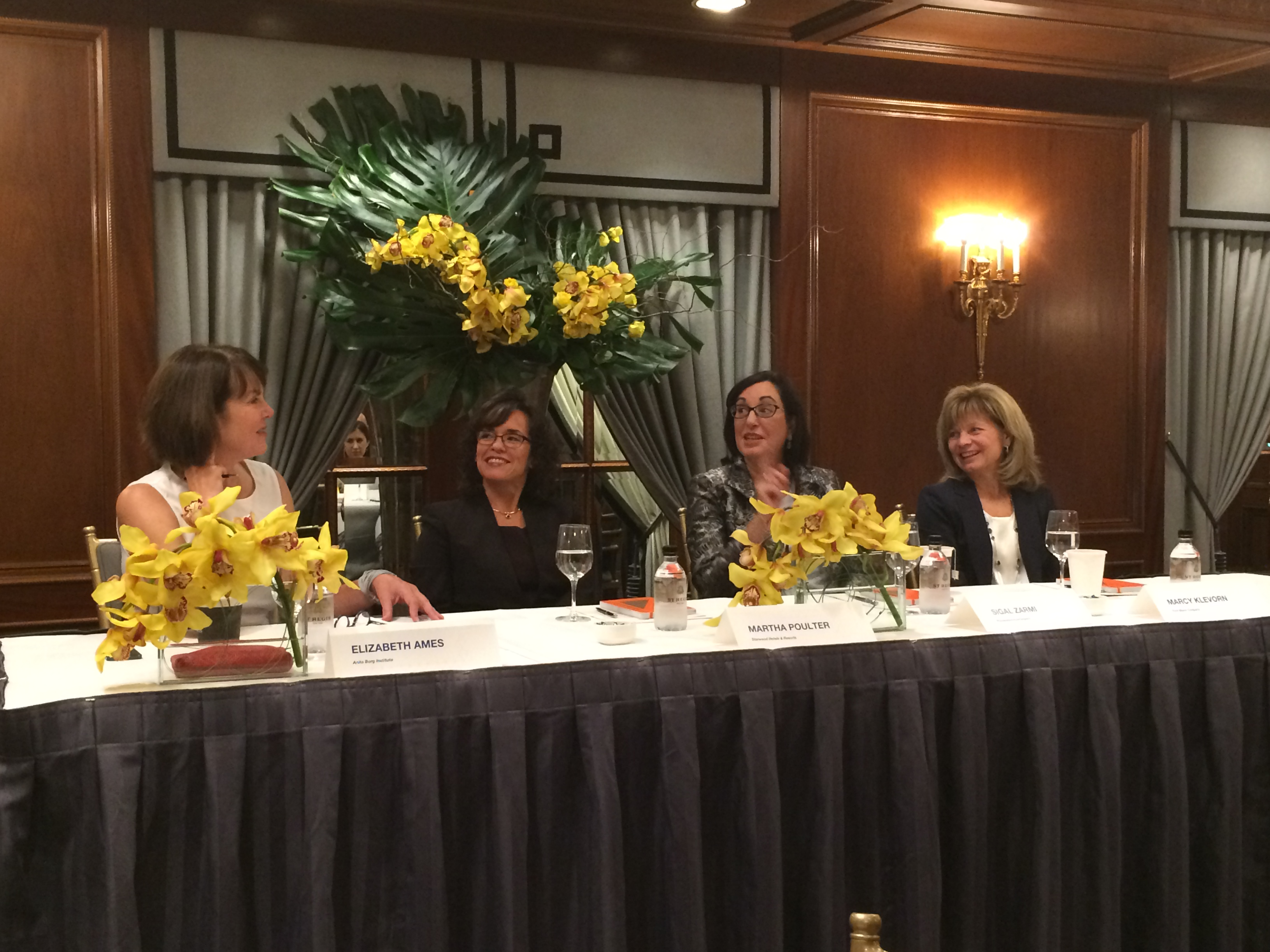 (Left to right) Elizabeth Ames, Anita Borg Institute; Martha Poulter, Starwood Hotels; Sigal Zarmi, PricewaterhouseCoopers; Marcy Klevorn, Ford Motor