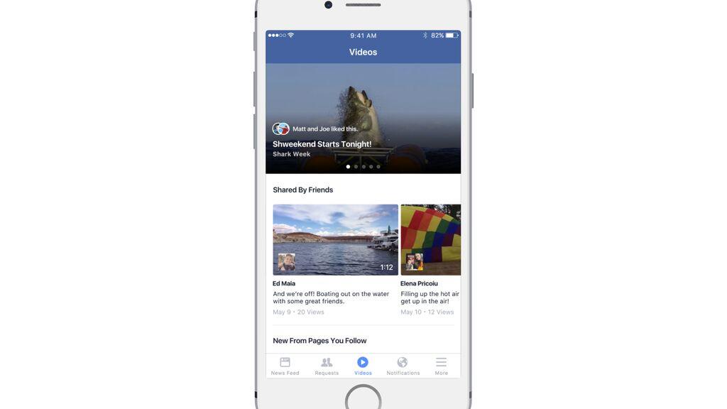 """Facebook's new """"Videos"""" tab."""