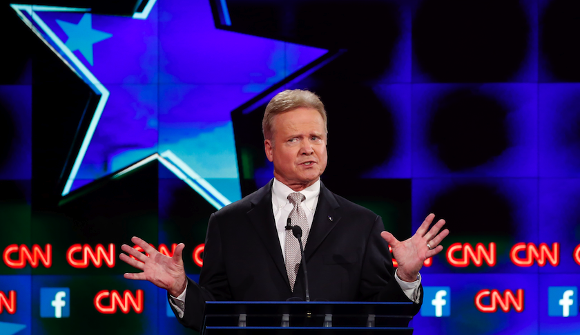 Former Democratic and possible independent candidate for President, JIm Webb