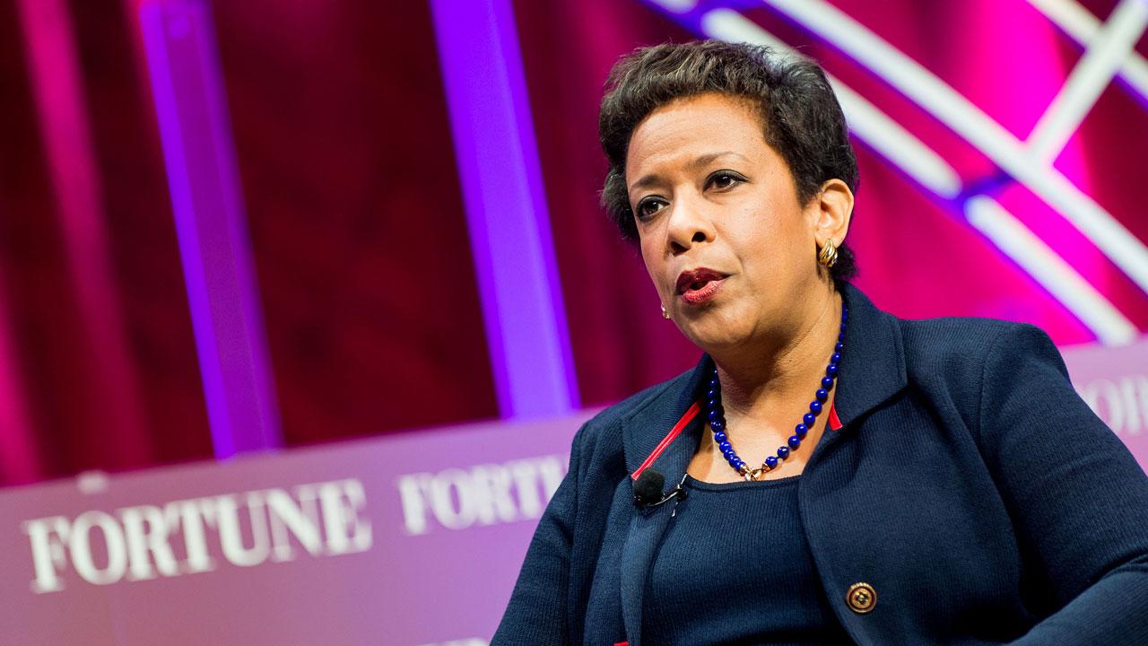 U.S. Attorney General Loretta Lynch speaks at Fortune's Most Powerful Women summit on October 14 in Washington, D.C.