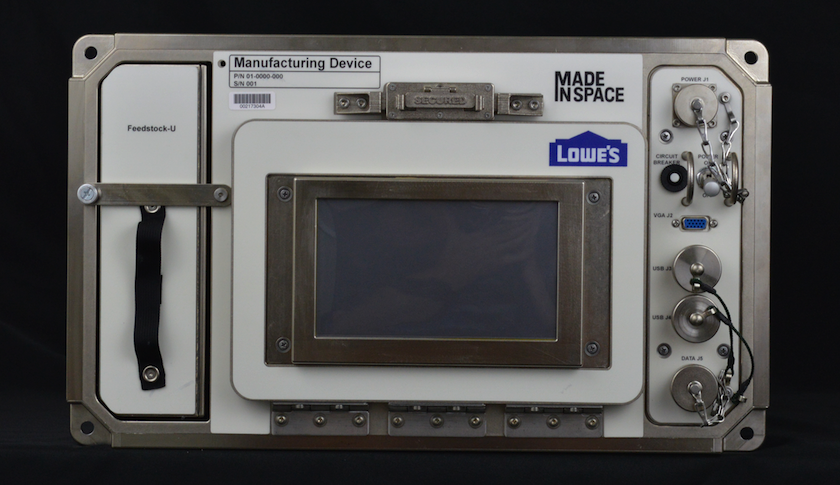 The Lowe's and Made in Space 3D printer