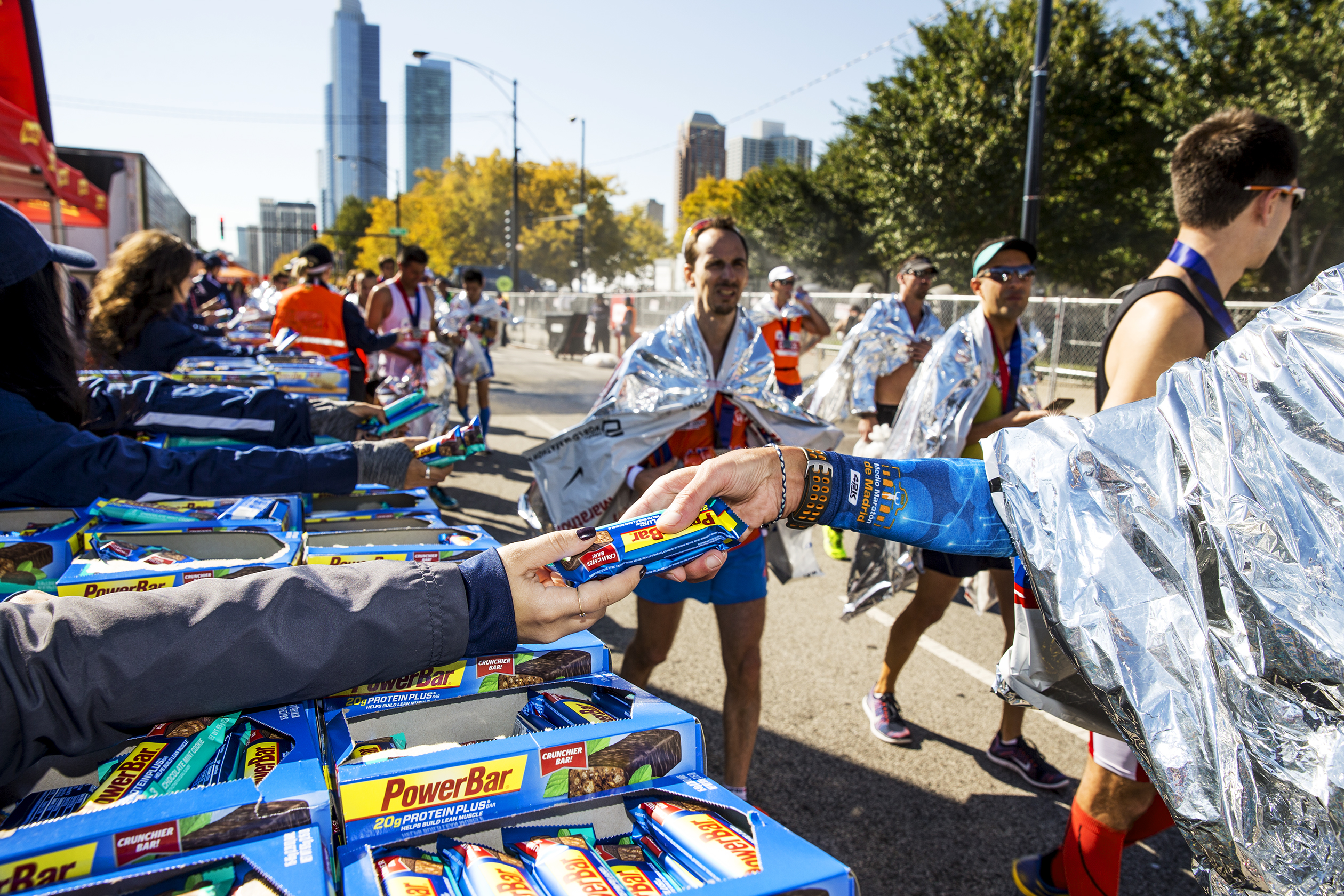 PowerBar was one of dozens of sponsors for the Bank of America Chicago Marathon in October.
