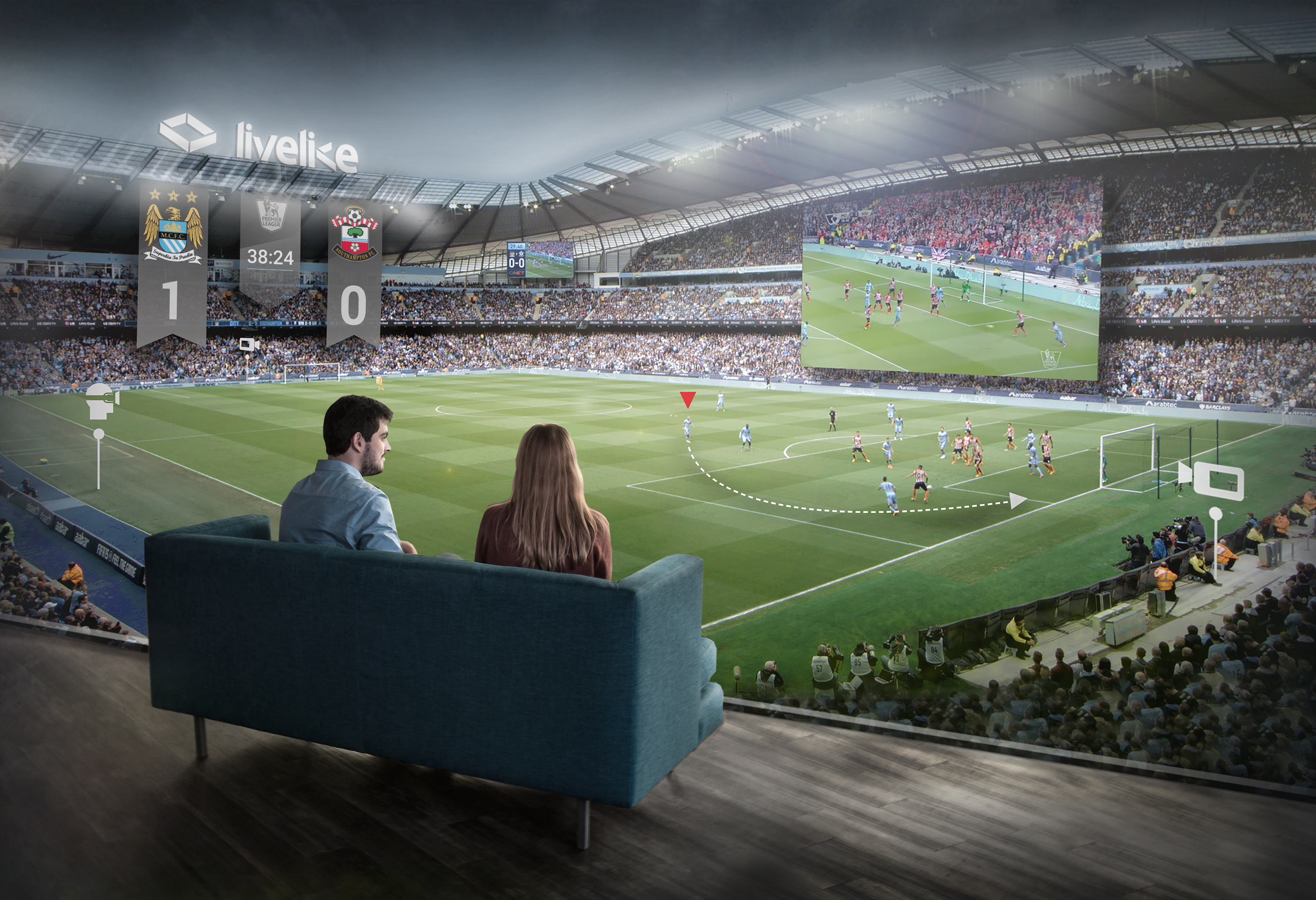 LiveLike VR is brnging sports teams like Manchester City to new sports VR app.