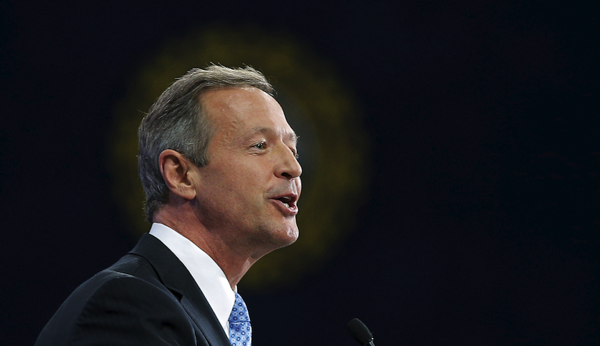 Democratic presidential candidate Martin O'Malley