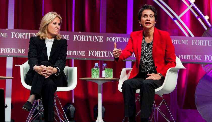 Greta Van Susteren (left) and Amy Walter at Fortune's Most Powerful Women summit
