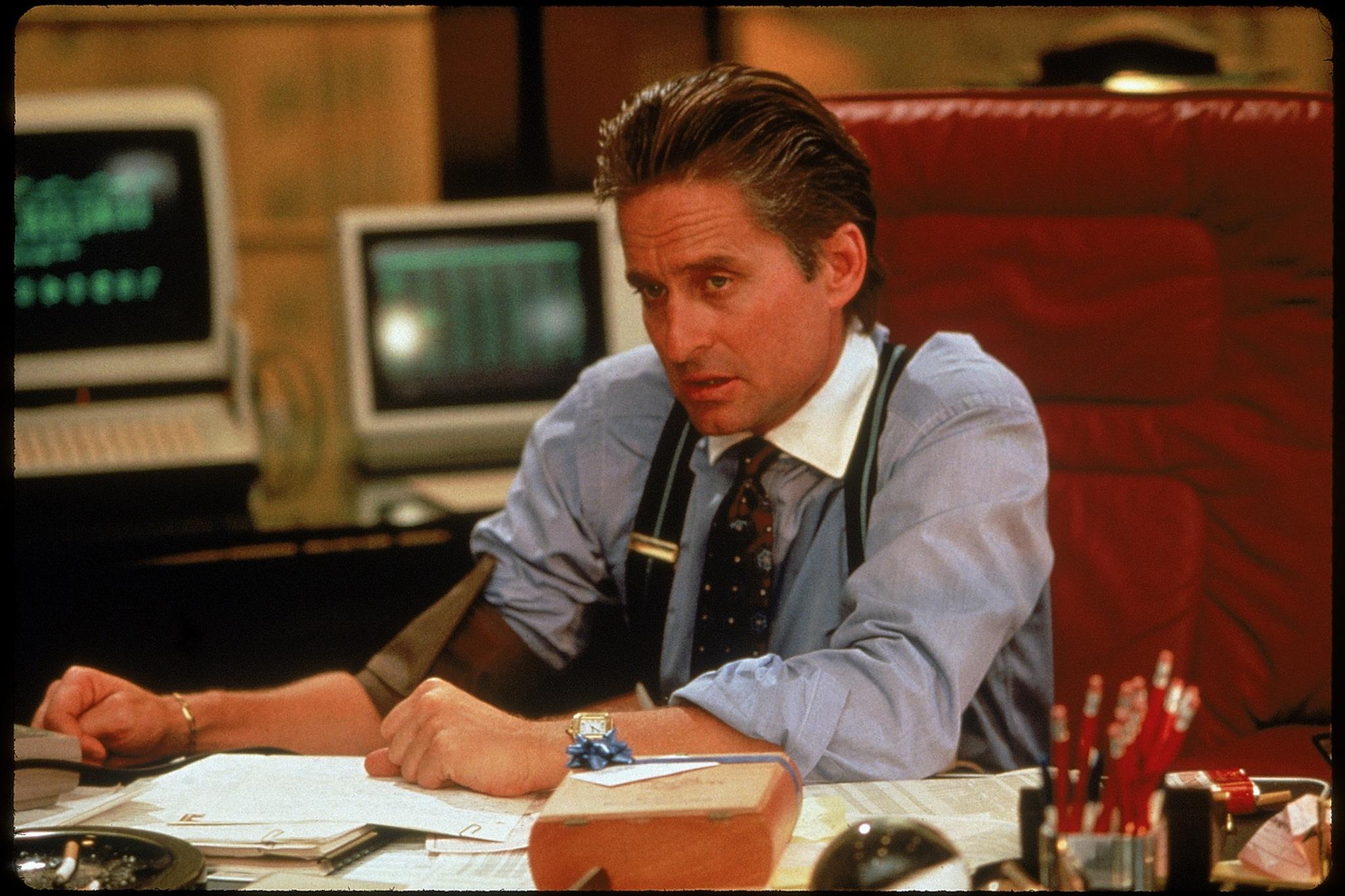 """Michael Douglas as Gordon Gekko in """"Wall Street """""""