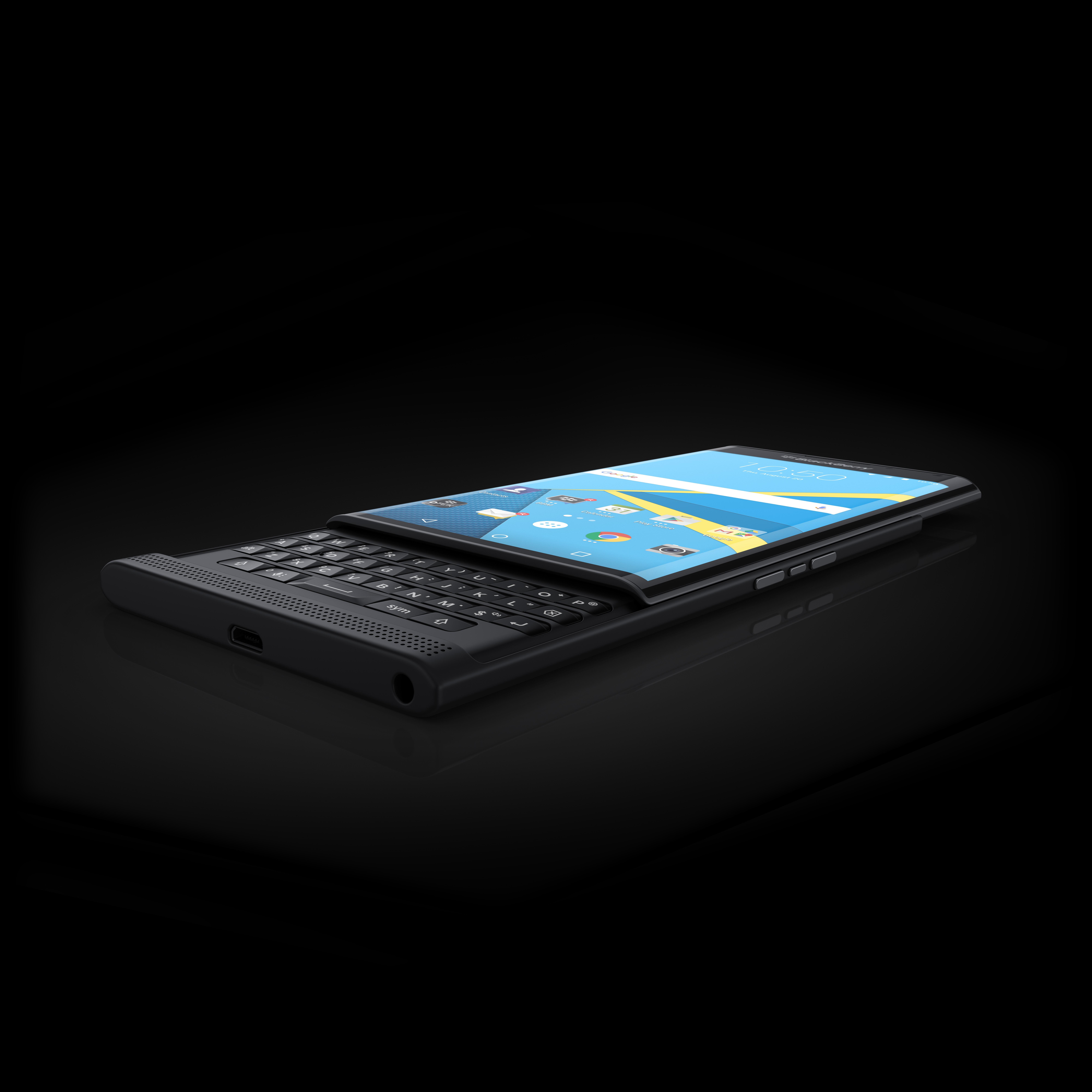 The Blackberry Priv runs Google's mobile operating system.