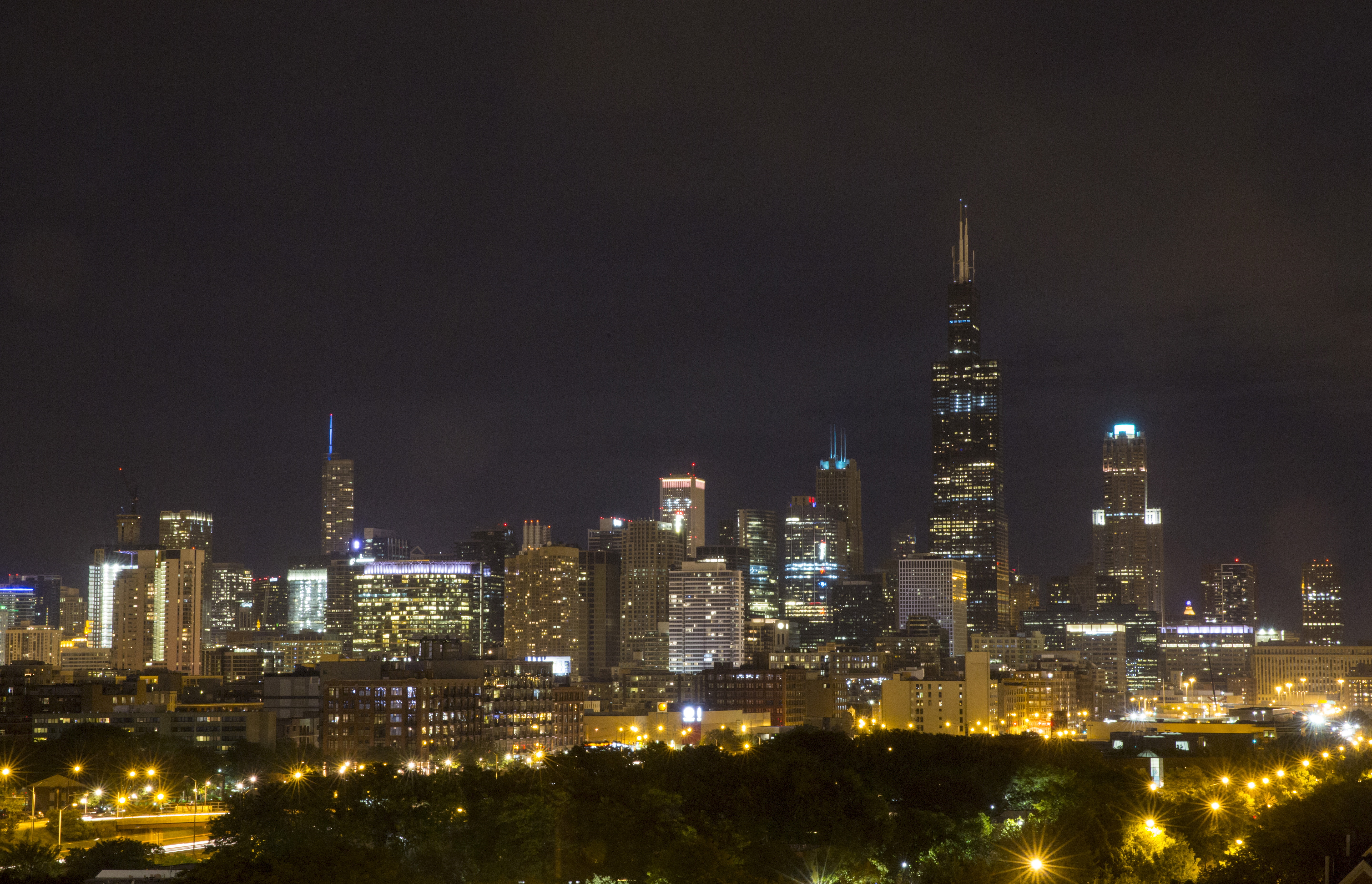 The downtown skyline is seen in Chicago