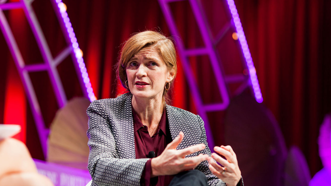 Samantha Power, the U.S. ambassador to the United Nations, speaks Wednesday, Oct. 14 at Fortune's Most Powerful Women summit in Washington, D.C.