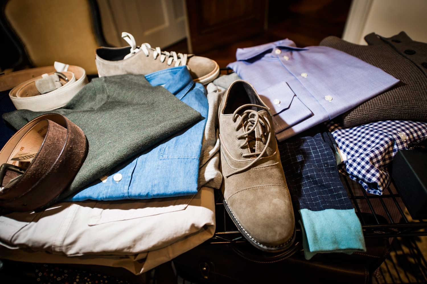 Trunk Club stylists choose clothes to match each customer's fit and taste.