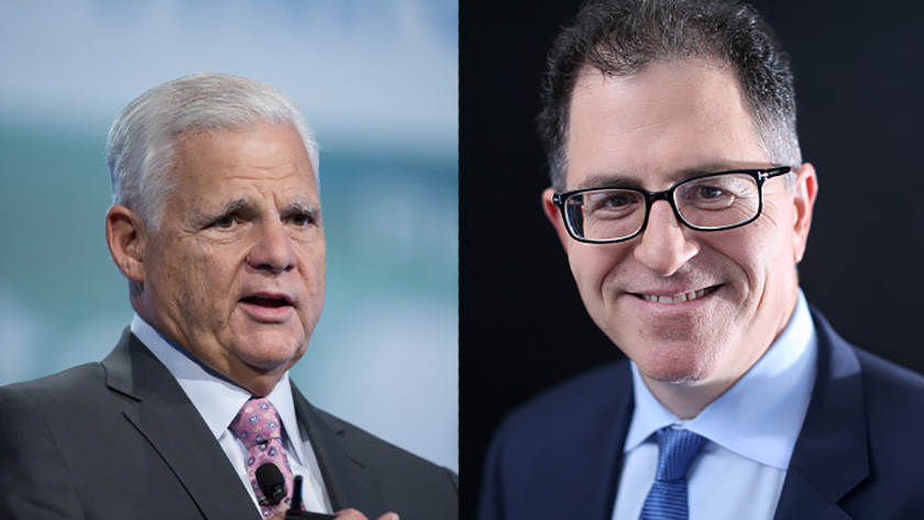 EMC CEO Joseph Tucci and Dell CEO Michael Dell.
