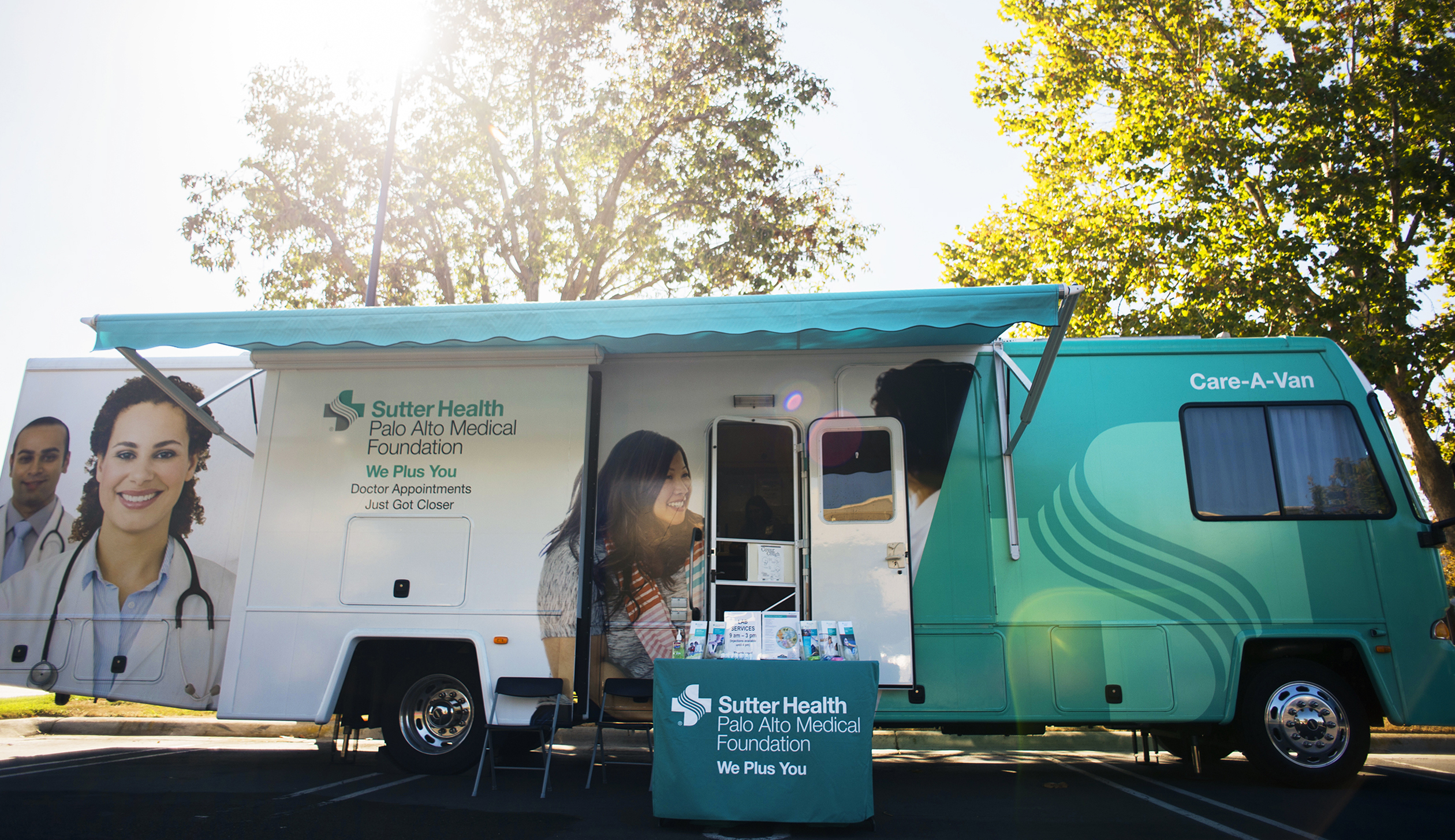 "Milpitas, California - October 1: Sutter Health's ""Care-A-Van"" travels to a variety of sillicon valley companies, providing on site exams."