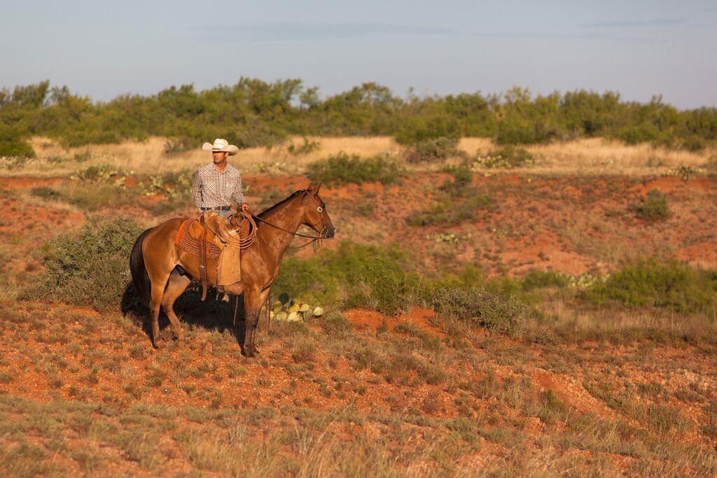 Cowboy prairie Waggoner Ranch Texas