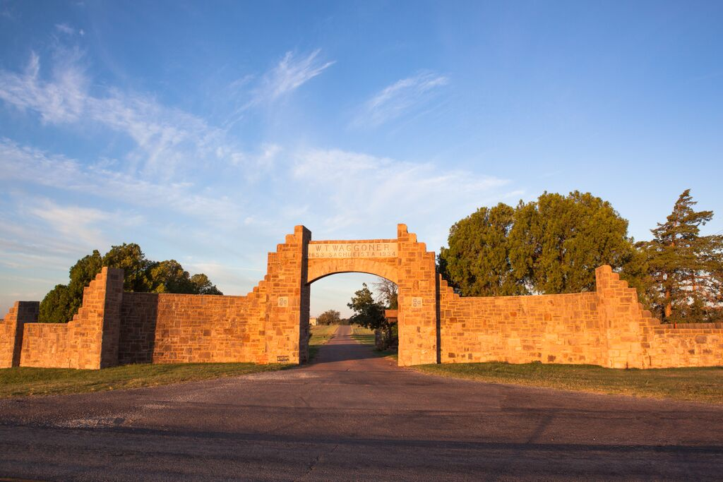 Waggoner ranch gate Texas