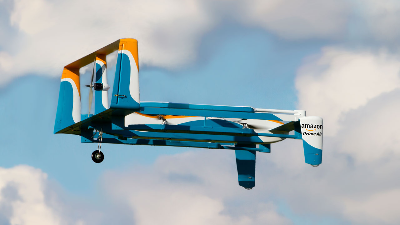 An Amazon Prime Air prototype revealed in November.