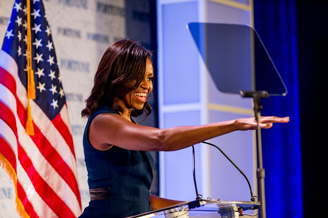 First Lady Michelle Obama speaks at the Fortune Most Powerful Women  Summit on October 13th, 2015 in Washington, D.C.